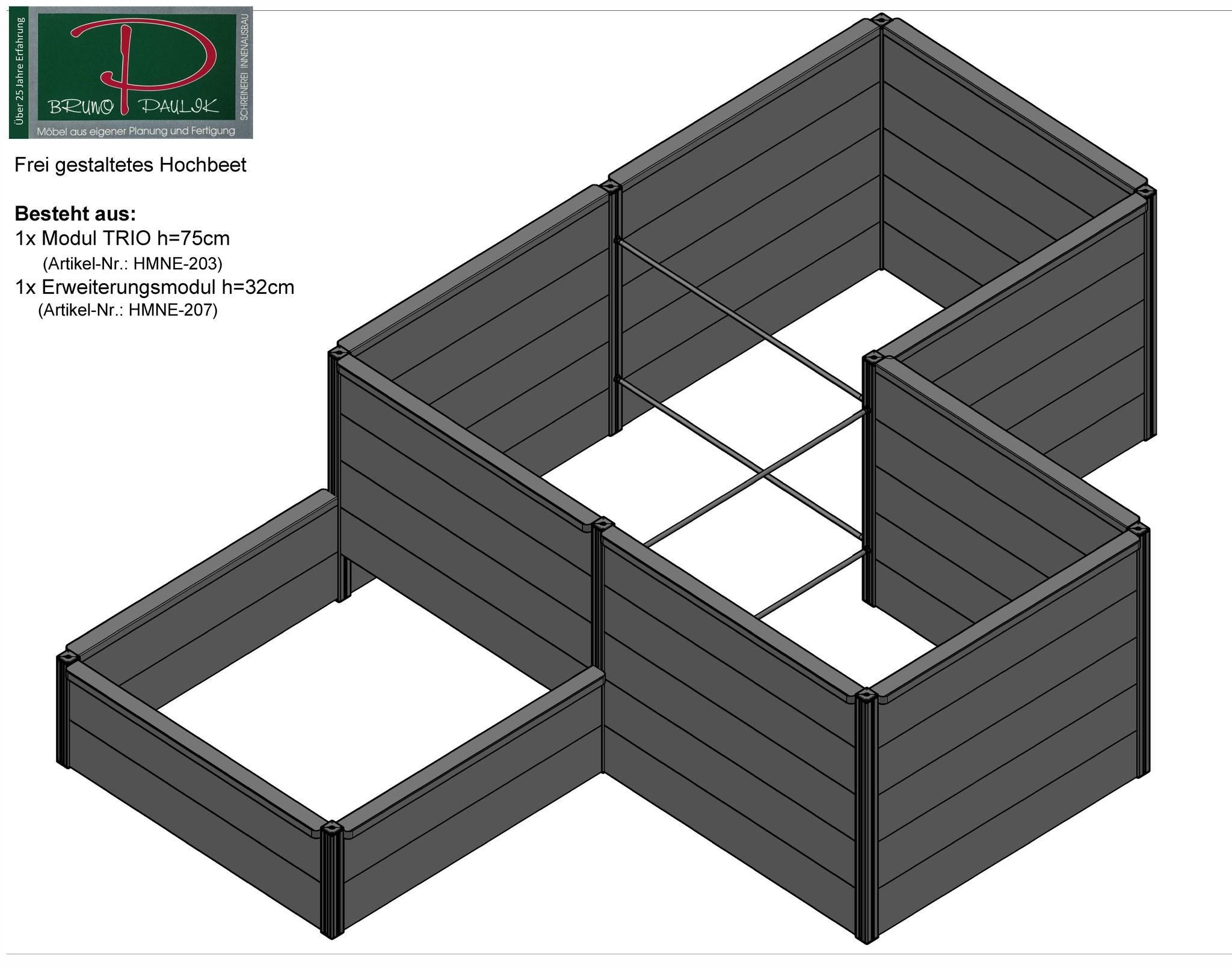 Modul TRIO + Erweiterungsmodul h=32cm