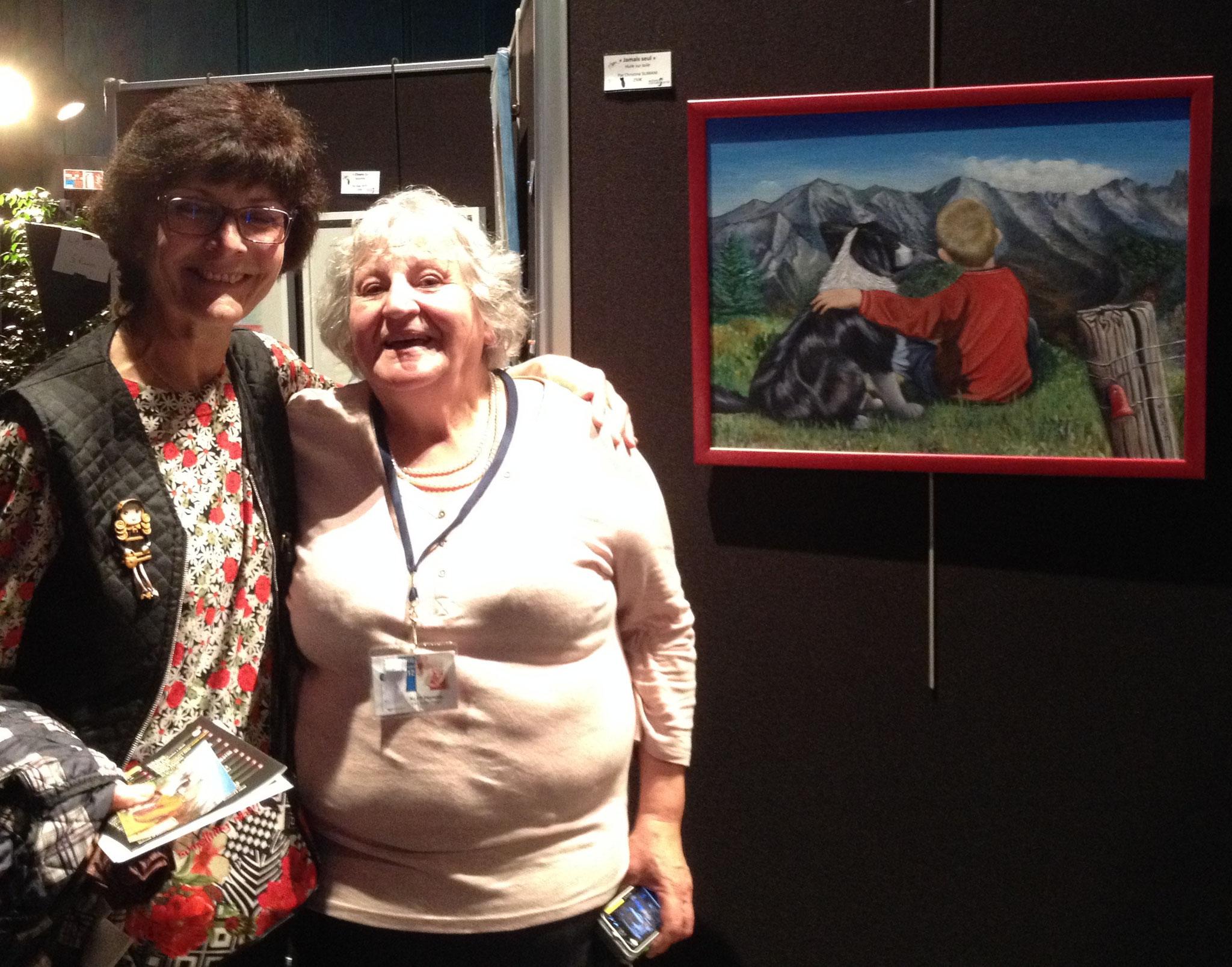 """avec Pierrette KLES à l'initiative de """"Rêves d'enfants"""" à Thorigny"""
