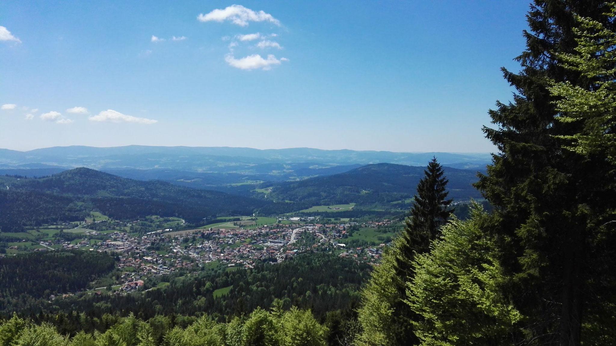 Bodenmais vom Hochzellberg aus gesehen