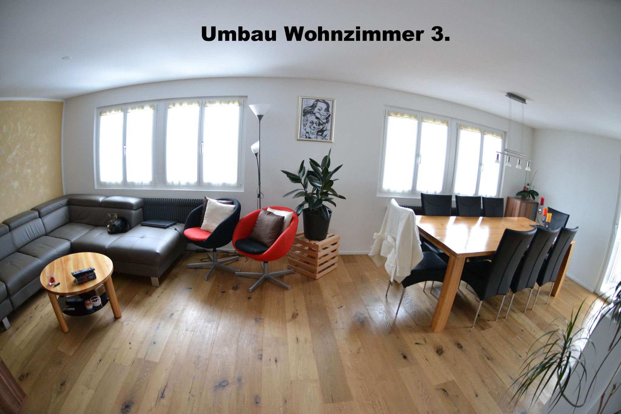 Das Wohnzimmer ist nach der Renovation heller & moderner.