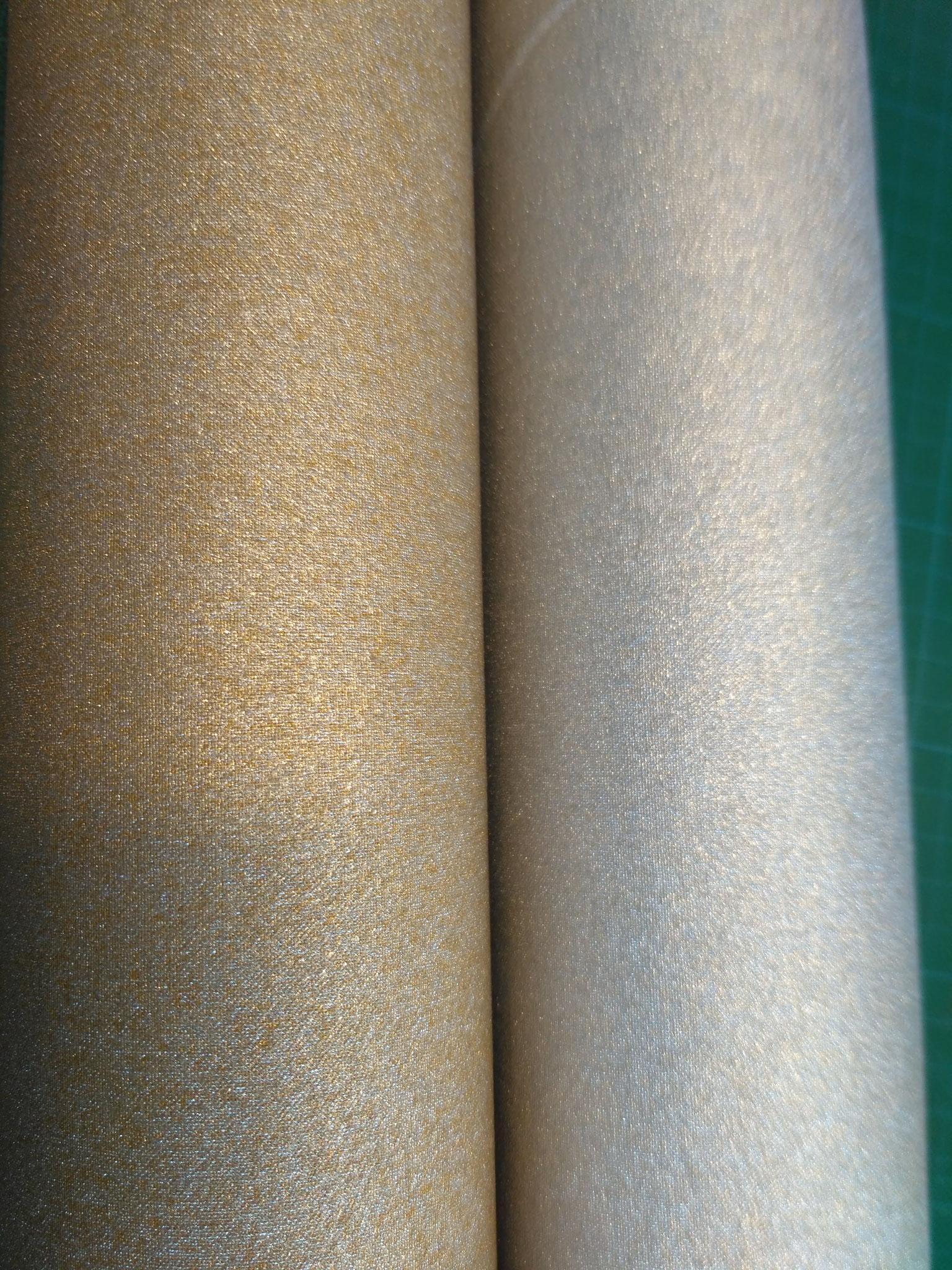 beschichtete Baumwolle in Gold- und Silber-Glitzer