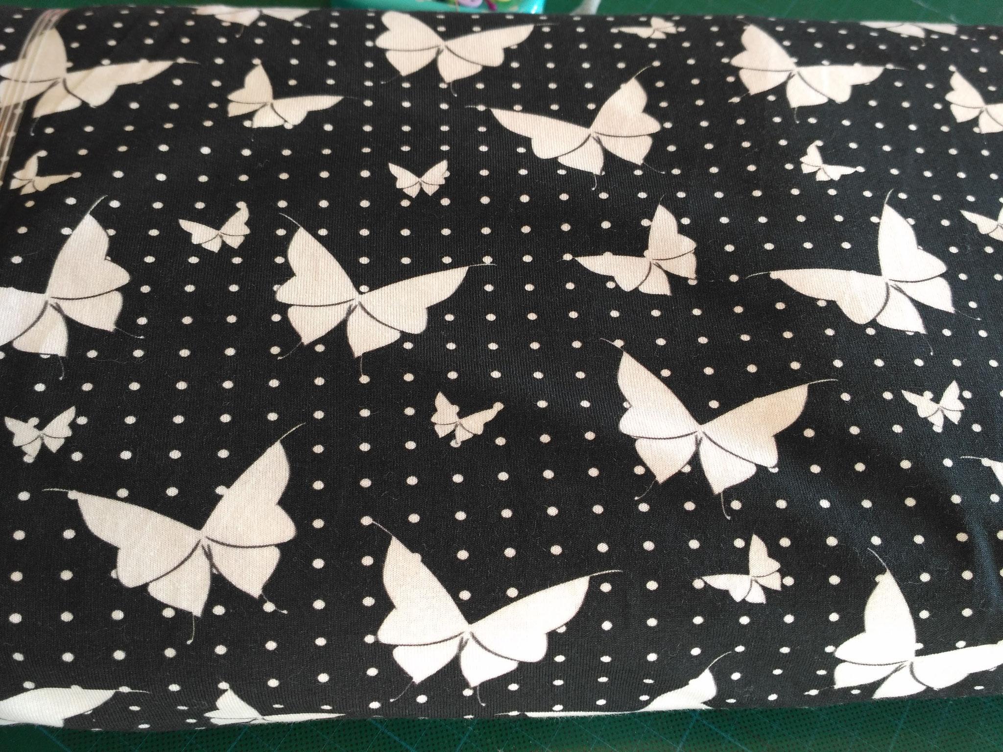 wunderschöne Schmetterlinge schwarz-weiß