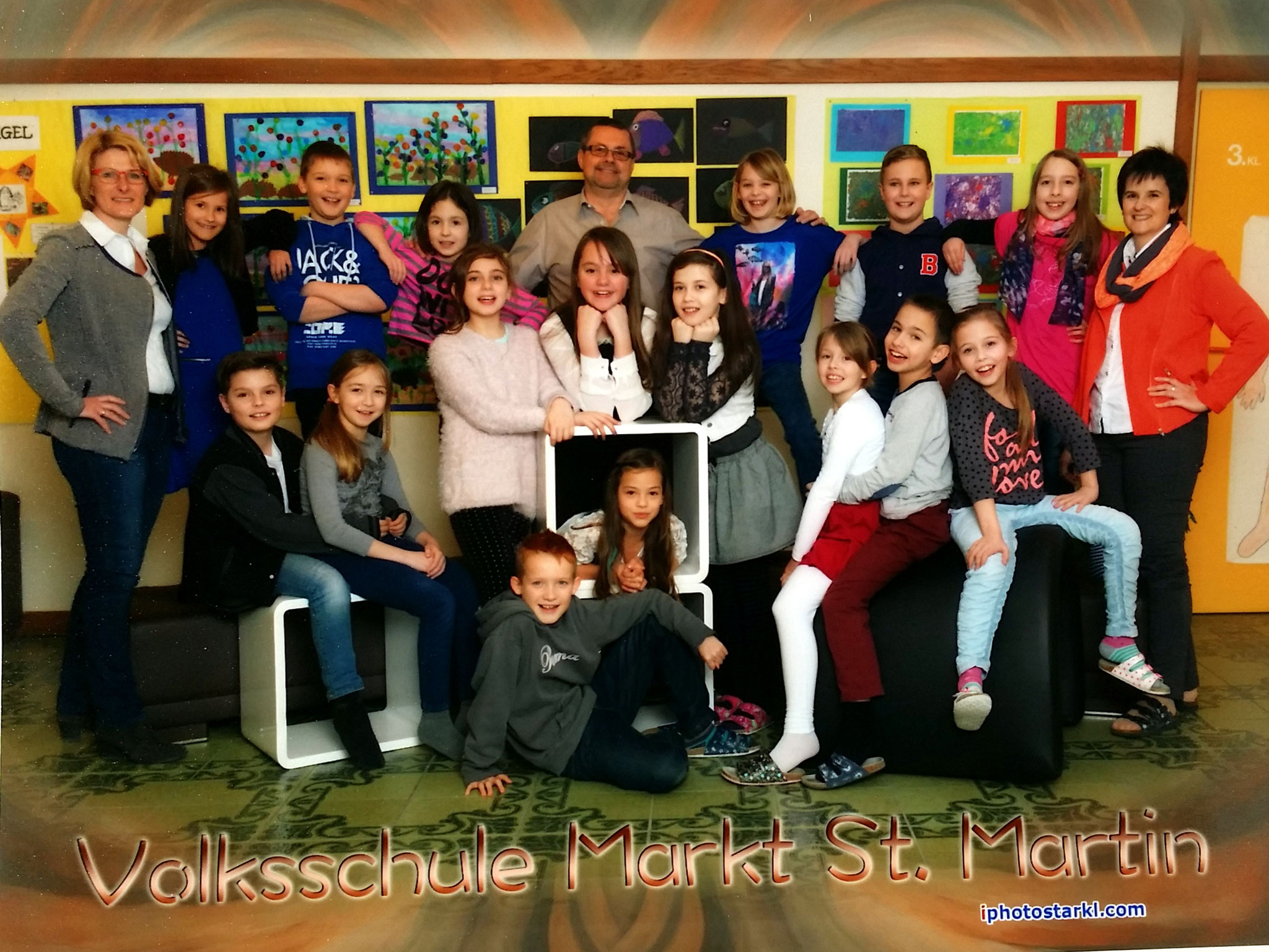2014-15  _  2.Kl. (3./4. Schst.) mit Dir.in Theresia Trummer, KL Gerhard Kappacher und Martina Prunner