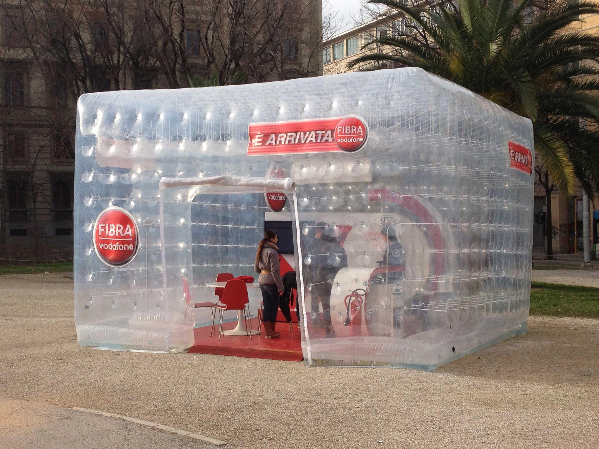 Stand gonfiabile Vodafone