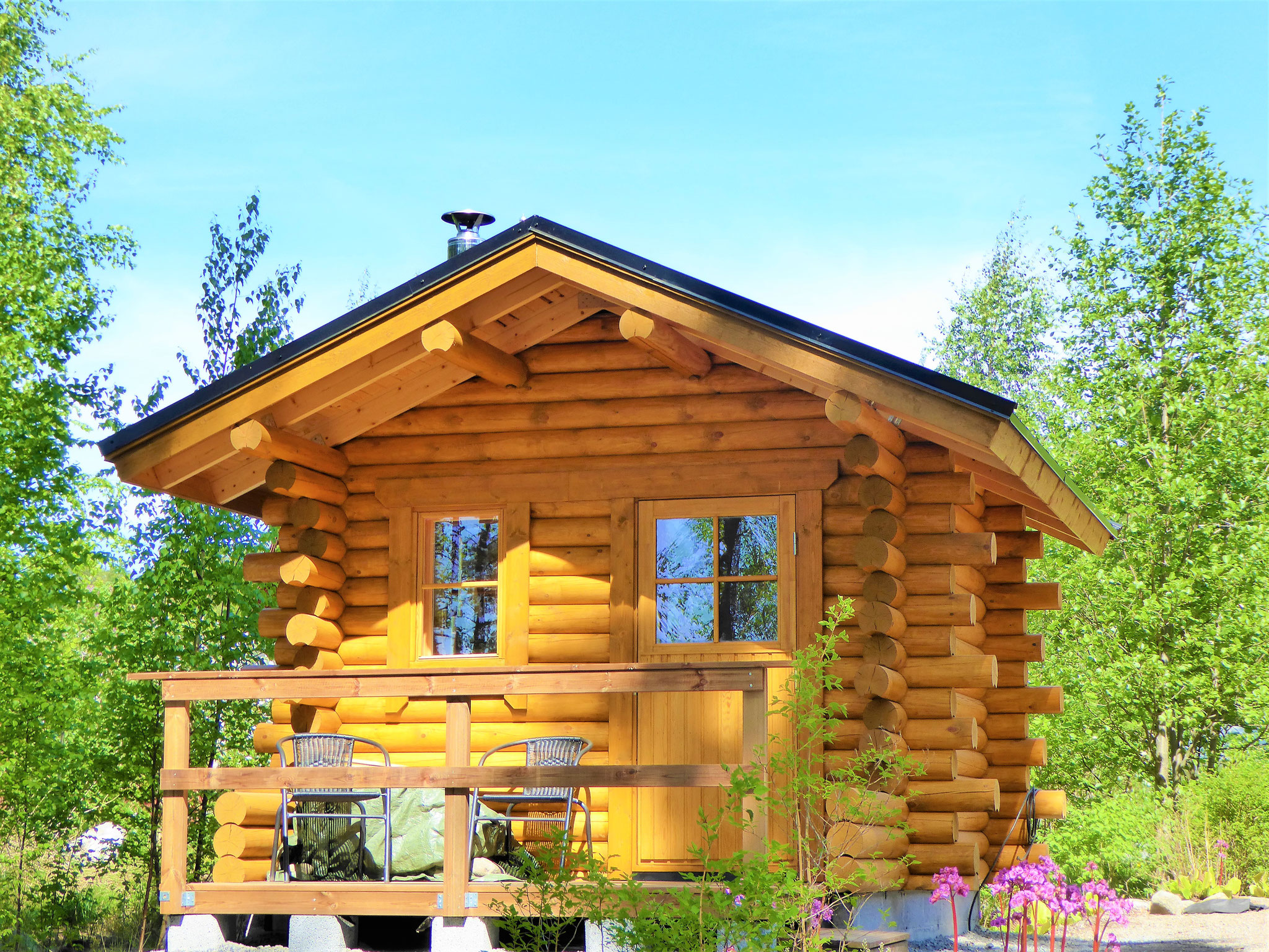 Your Outdoor-Sauna at the log house 50 m from lake