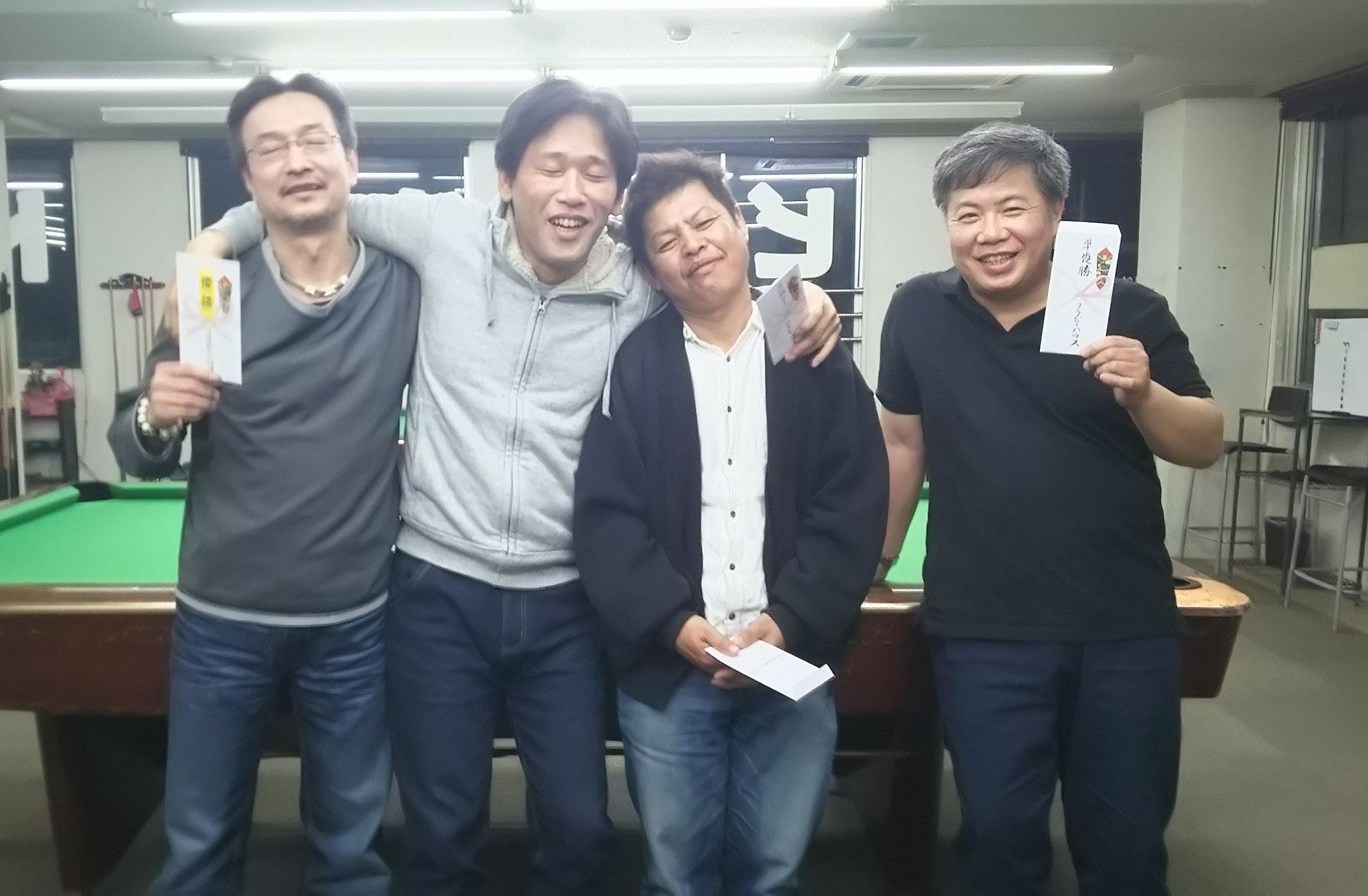 優勝毛利さん 剛一朗&ぐっさん 準優勝川野さん なんで3位二人が真ん中やねーん(笑)