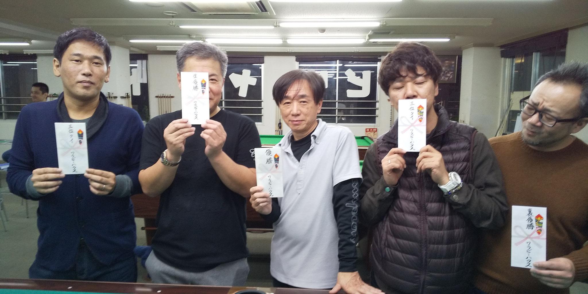 剛一朗(3) 川野さん(2) 立木さん(1) 森崎さん(3) 永藤くん(裏)