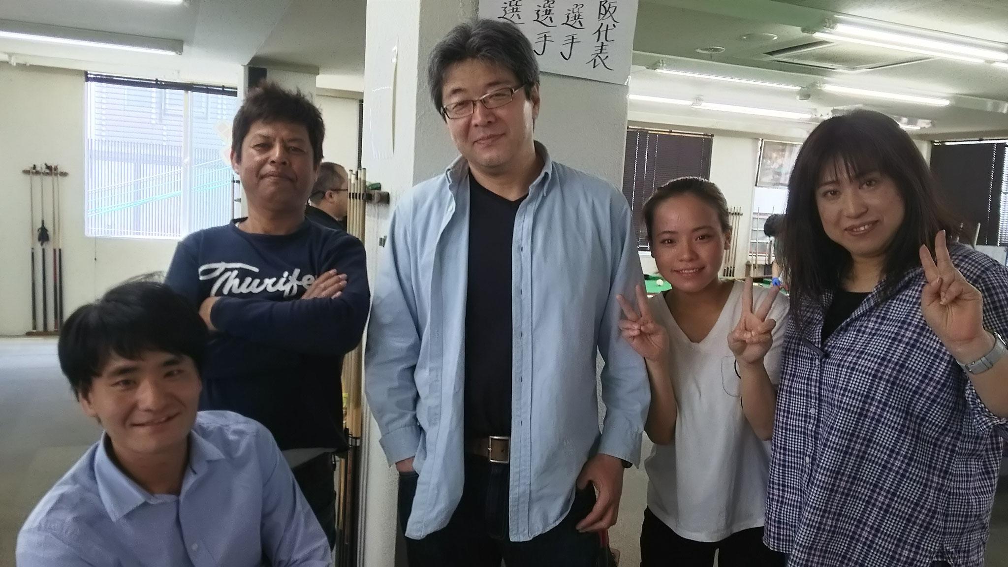 竹原氏、顔見せに来てくれたぐっさんと稲岡さん、愛子ちゃん、佳苗さん