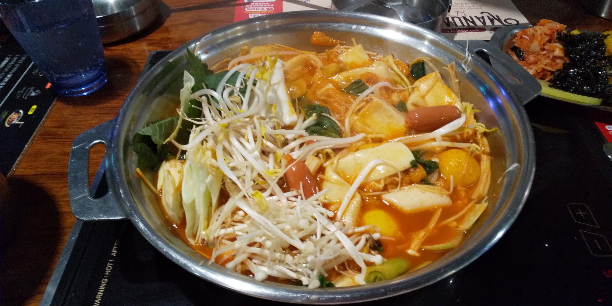 スープを好みの辛さにして、野菜もたっぷり、ヘルシー!