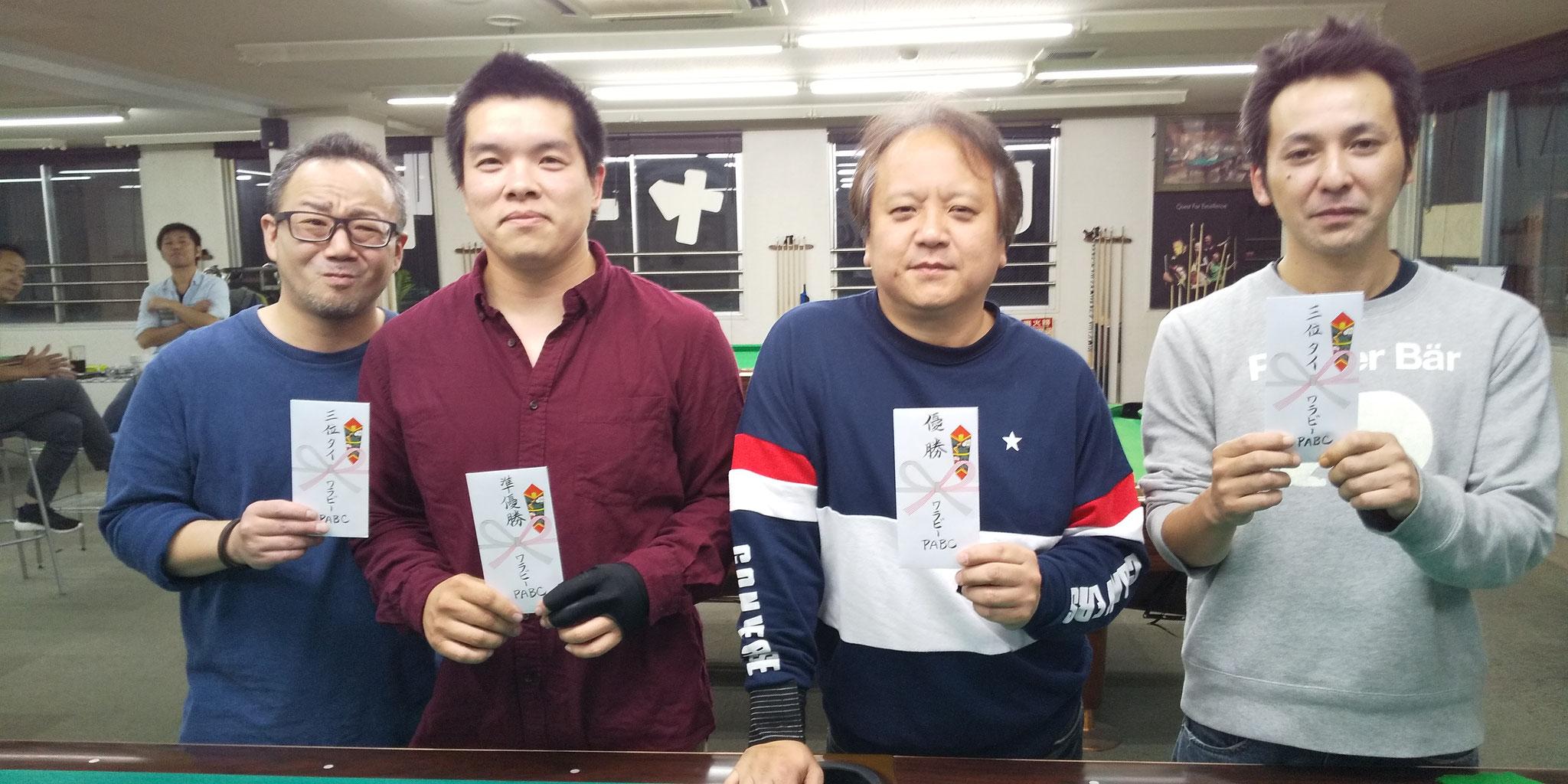 永藤君(3) 稲田さん(2) 山川プロ(1) 佐藤さん(3)