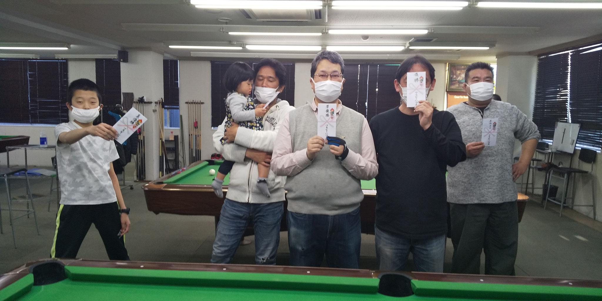 カズ(裏) 剛一朗③ 森本さん② 鈴木さん① 小山さん③