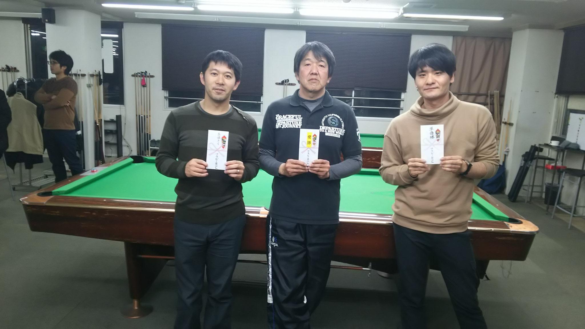 3位タイ平松さん、優勝辻さん、準優勝竹原氏