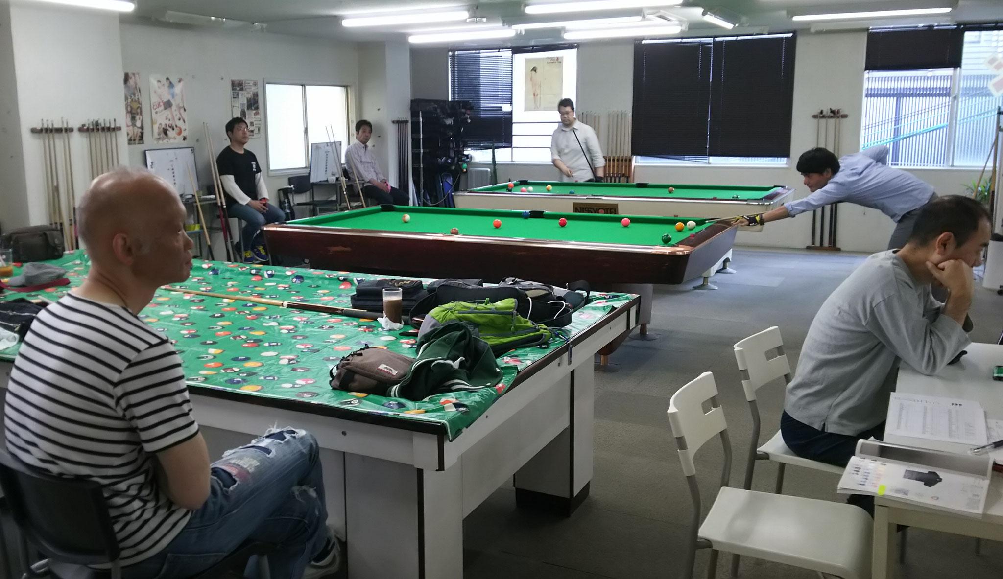 試合風景。とみさんは運営も手伝ってくれました。