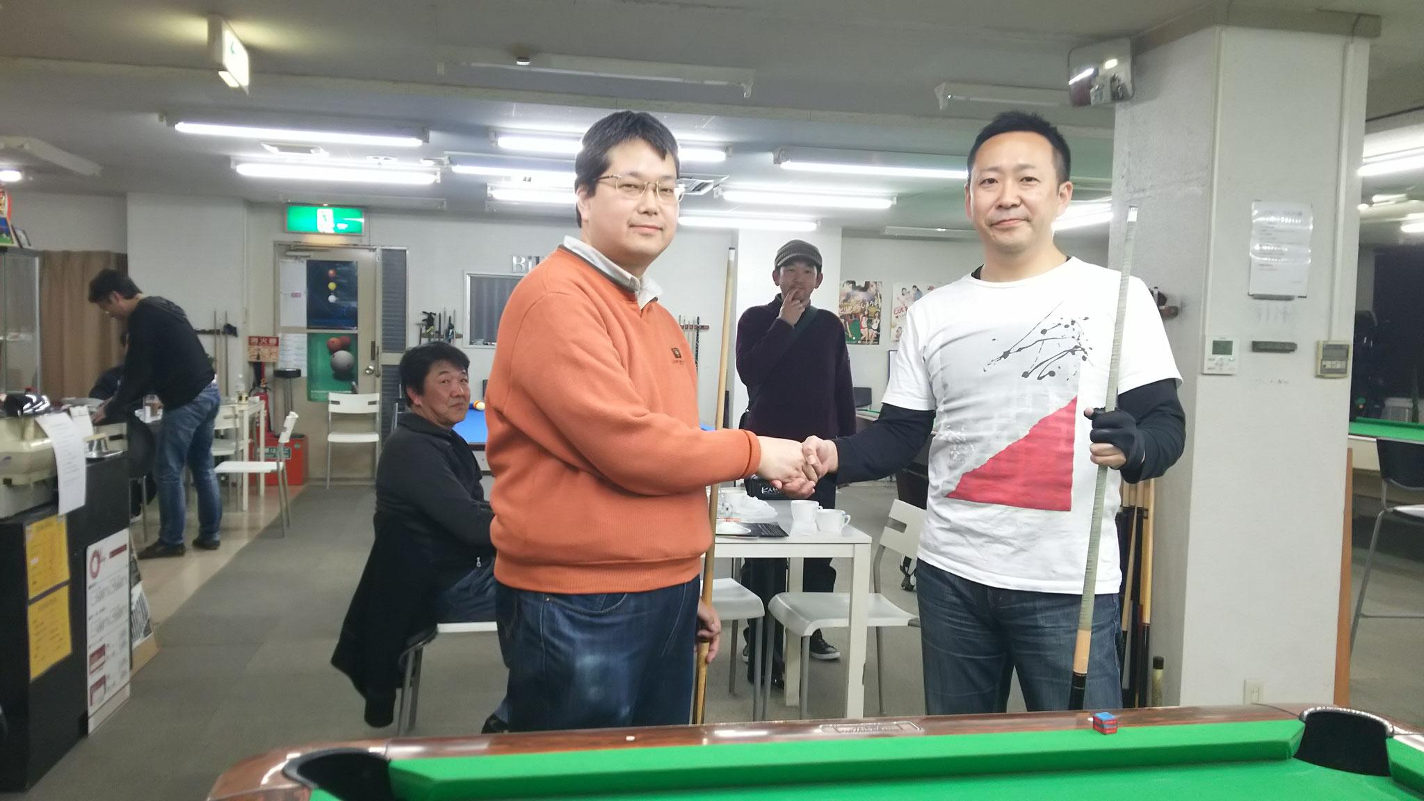 決勝は、森本さんと、藤本さん100%(連対率)!
