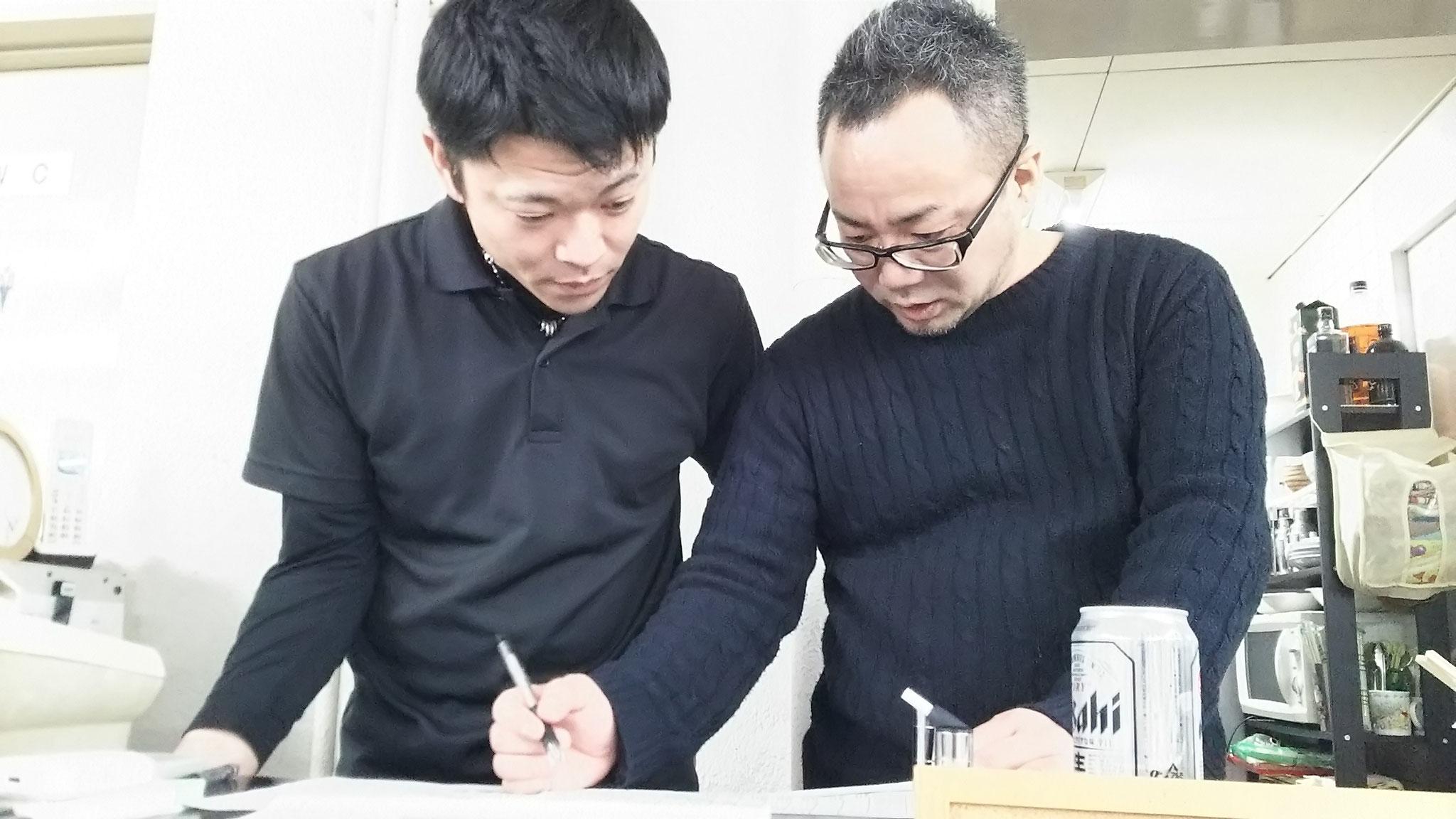 戸田君&永藤君、運営おつかれさま~♪ めっちゃ真剣やん!