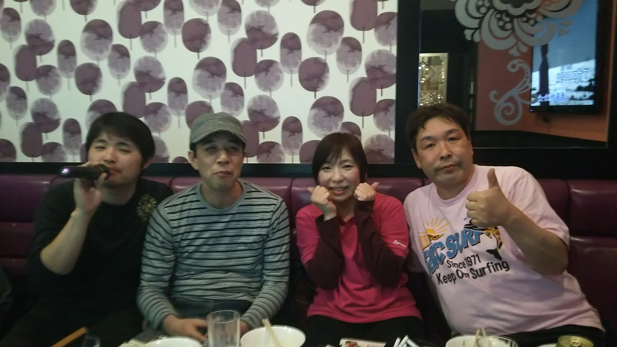 永田さん木山さん羽賀さんと。酔っぱらっちゃった。(/ω\)