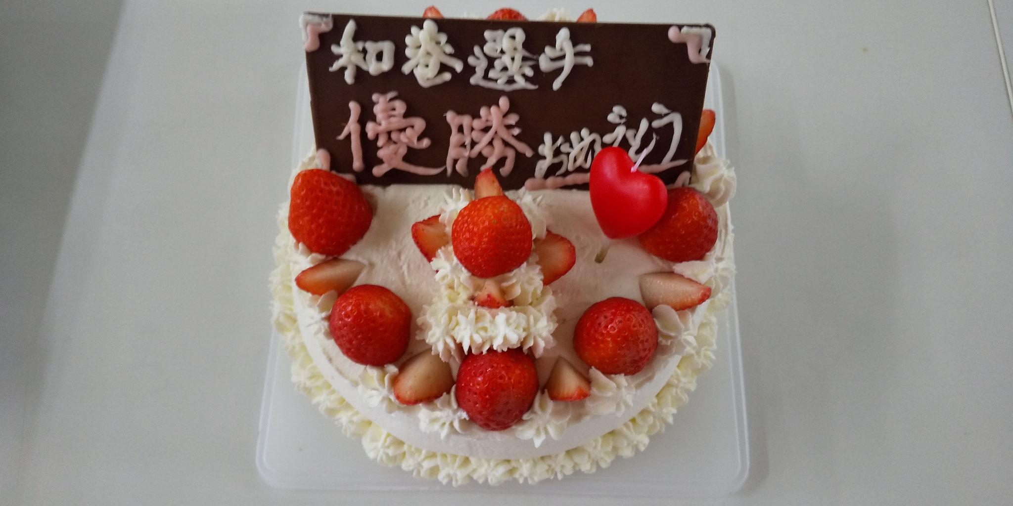 藤本さんからのスペシャルケーキ