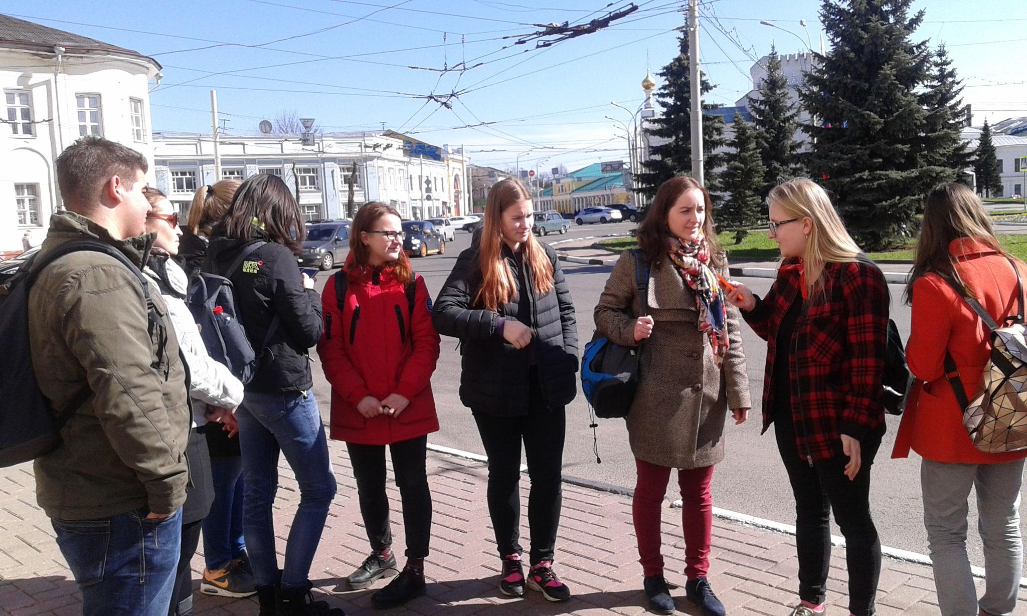 Schülergruppe in Jaroslavl