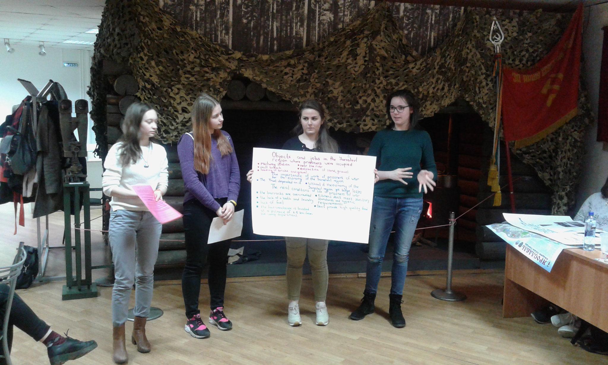 Präsentation deutsch-russische Schülergruppe
