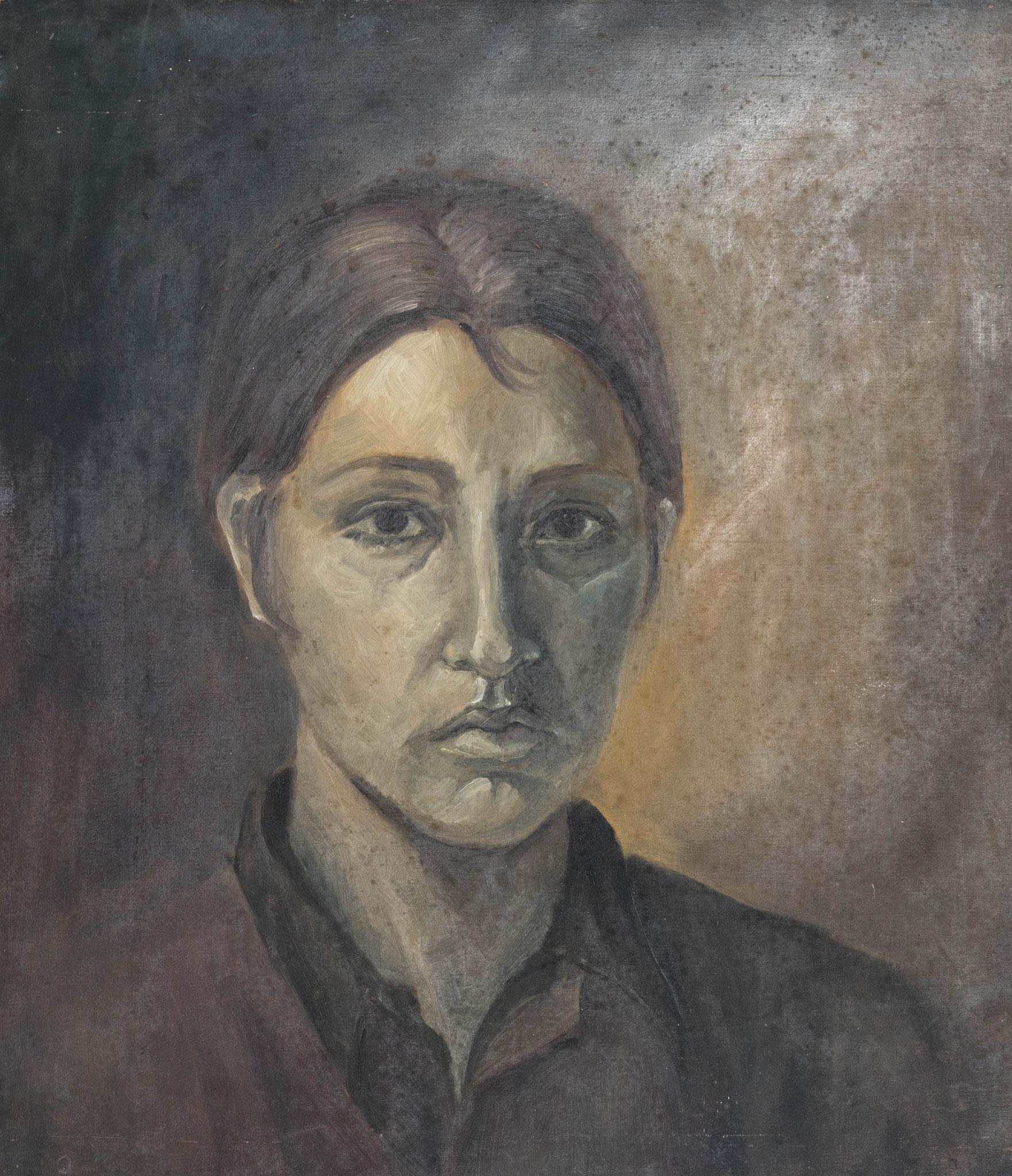 »Selbstportrait«  Öl/Karton  50 x 60 cm
