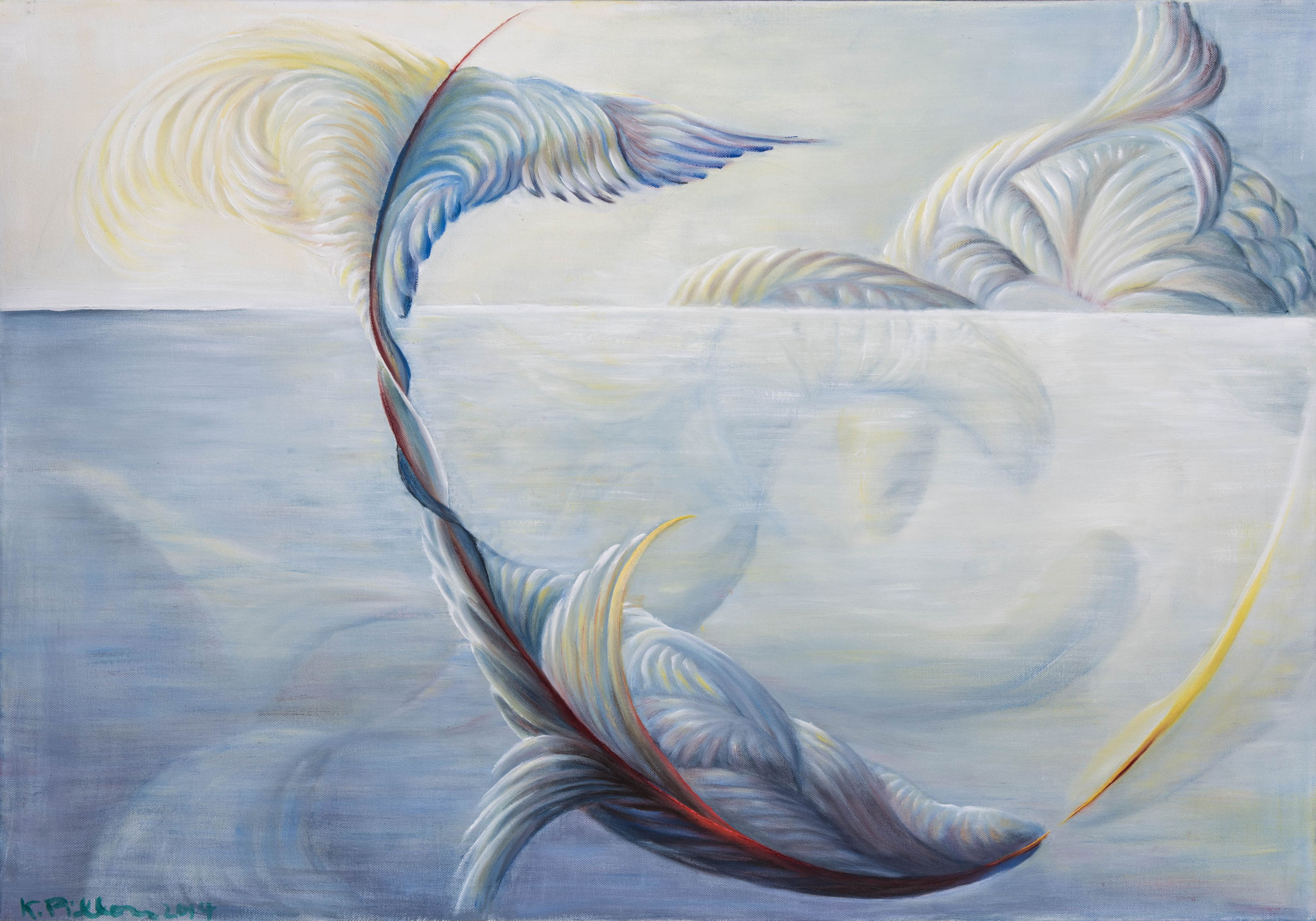 »Wale« Öl/Leinwand  100 x 70 cm  € 2500