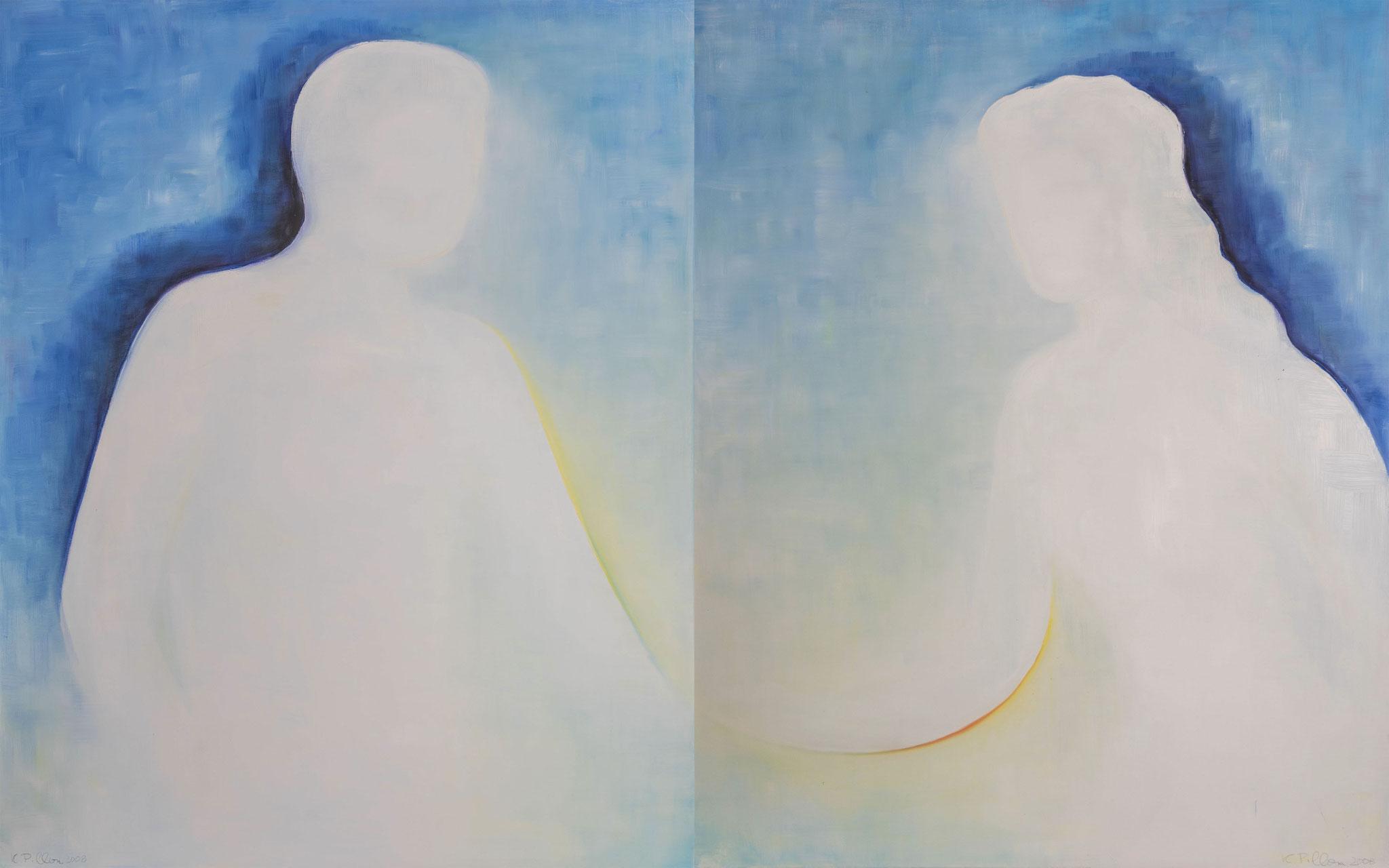 »Paar« Öl/Leinwand 2 x je 80 x 100 cm  € 3600 (zusammen)