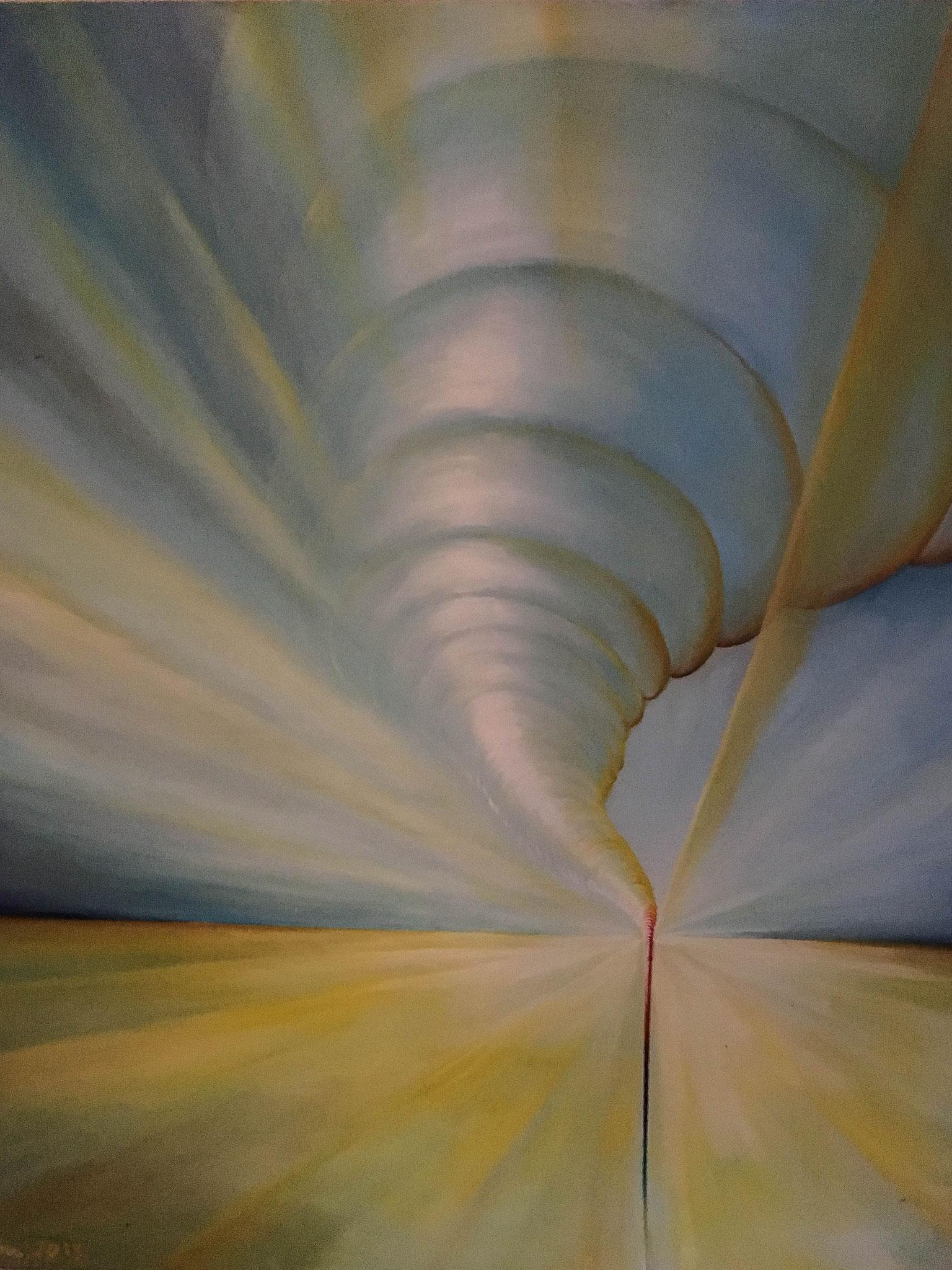 »Hurricane «   Öl/ Leinwand  100 x 120 cm  € 600