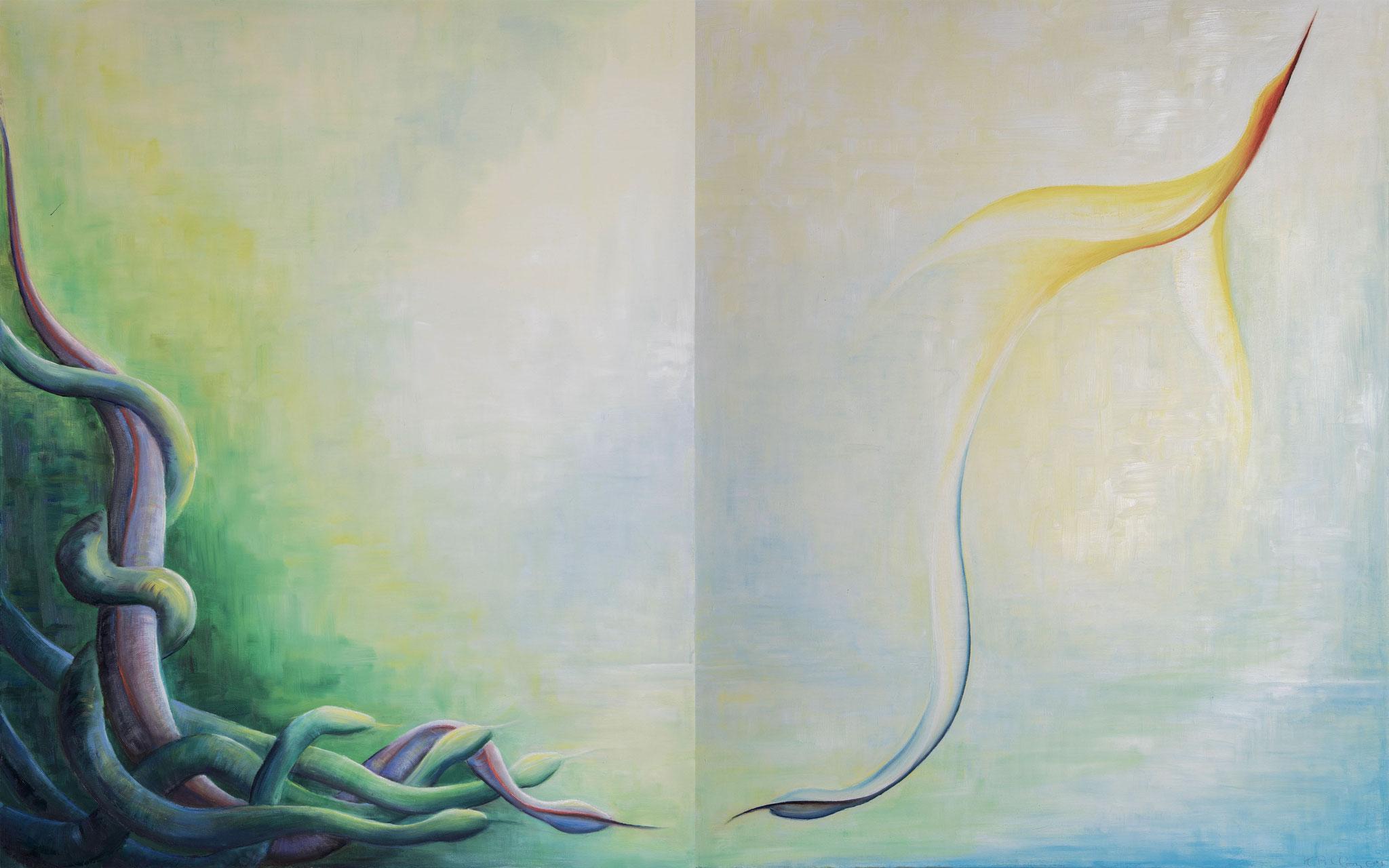 »Metamorphose« Öl/Leinw. 2x je 80 x 100 cm / je € 3600 (zusammen)