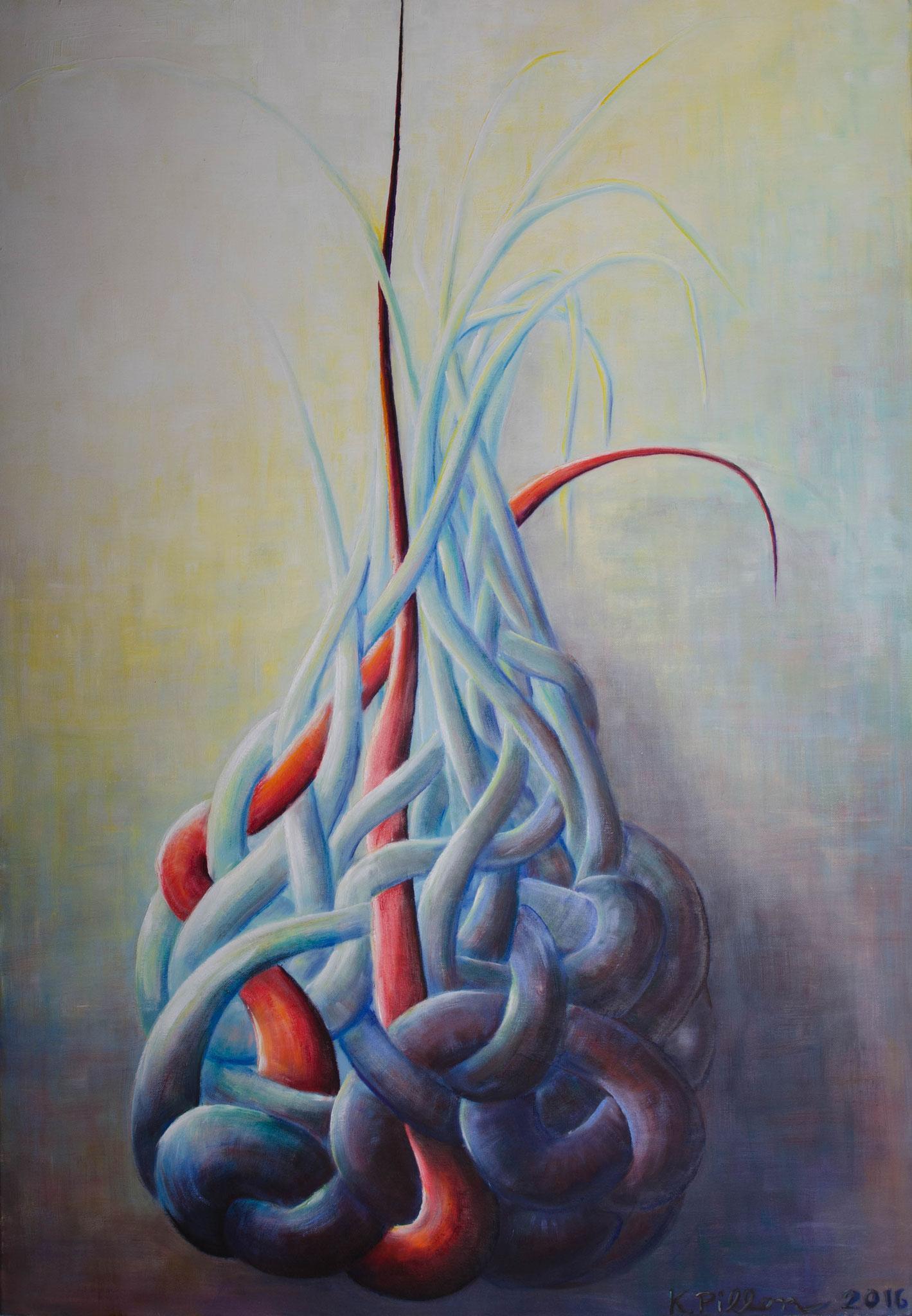 »Am seidenen Faden« Öl/Leinwand  70 x 100 cm  € 2500