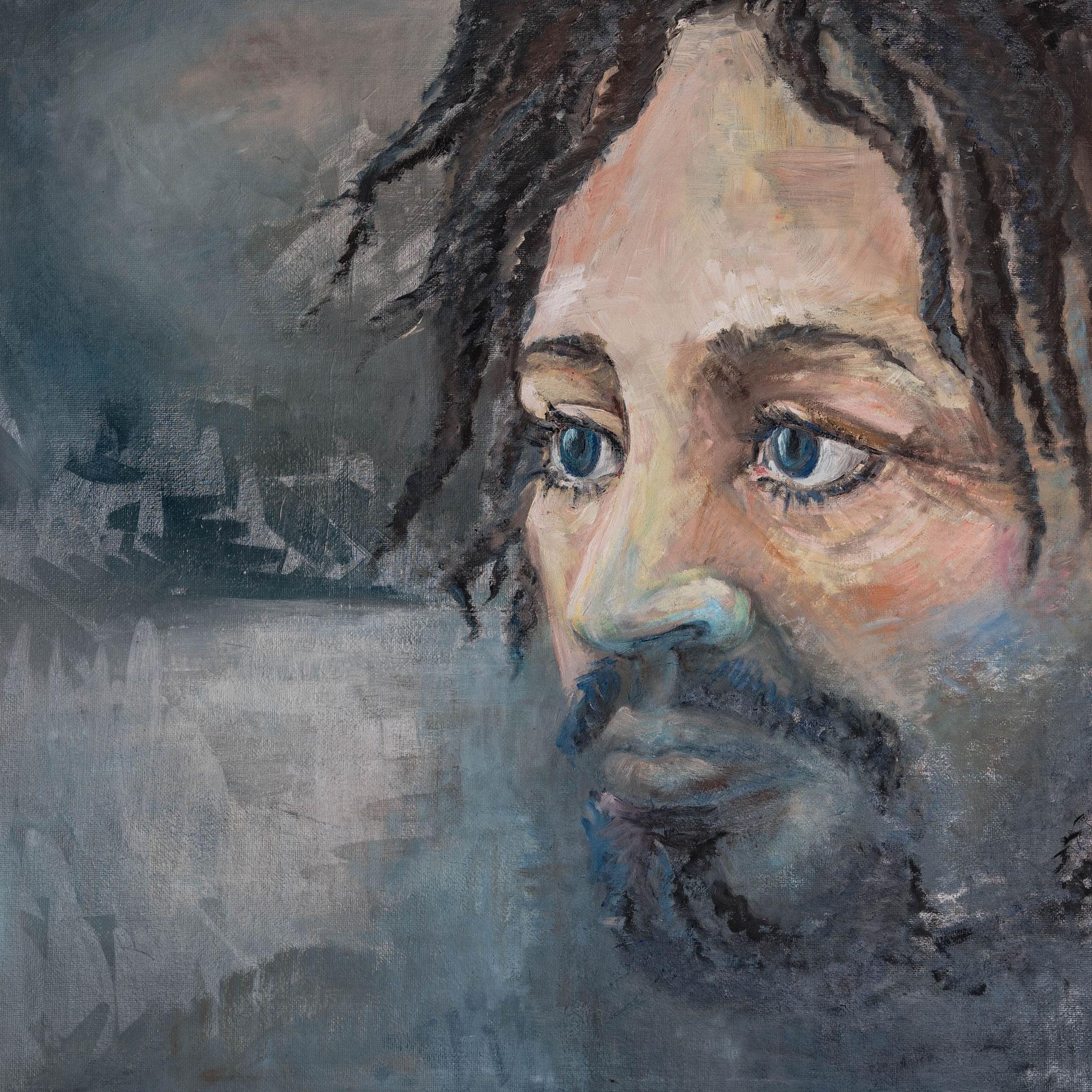 »Giacomo«  Öl/Leinwand  80 x 80 cm