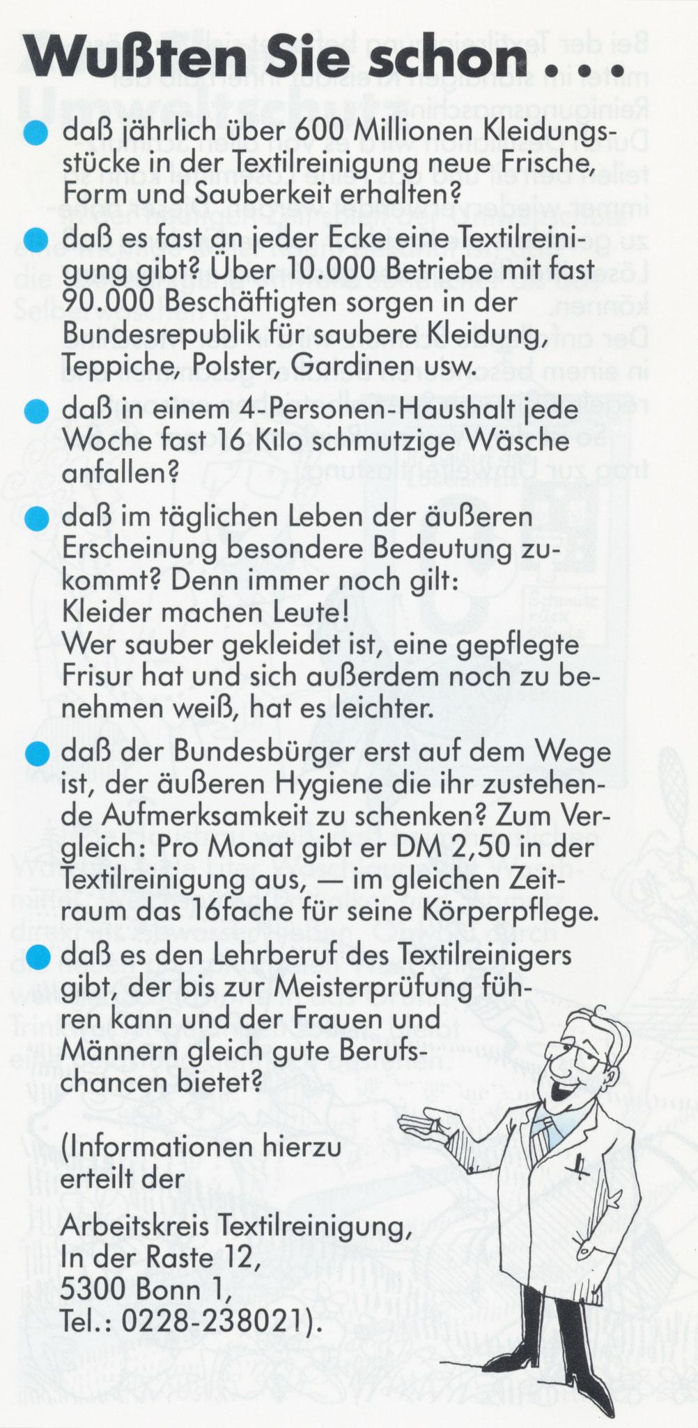1980 Müden Arbeitskreis Textilreinigung:  Seite 11, Wussten Sie schon