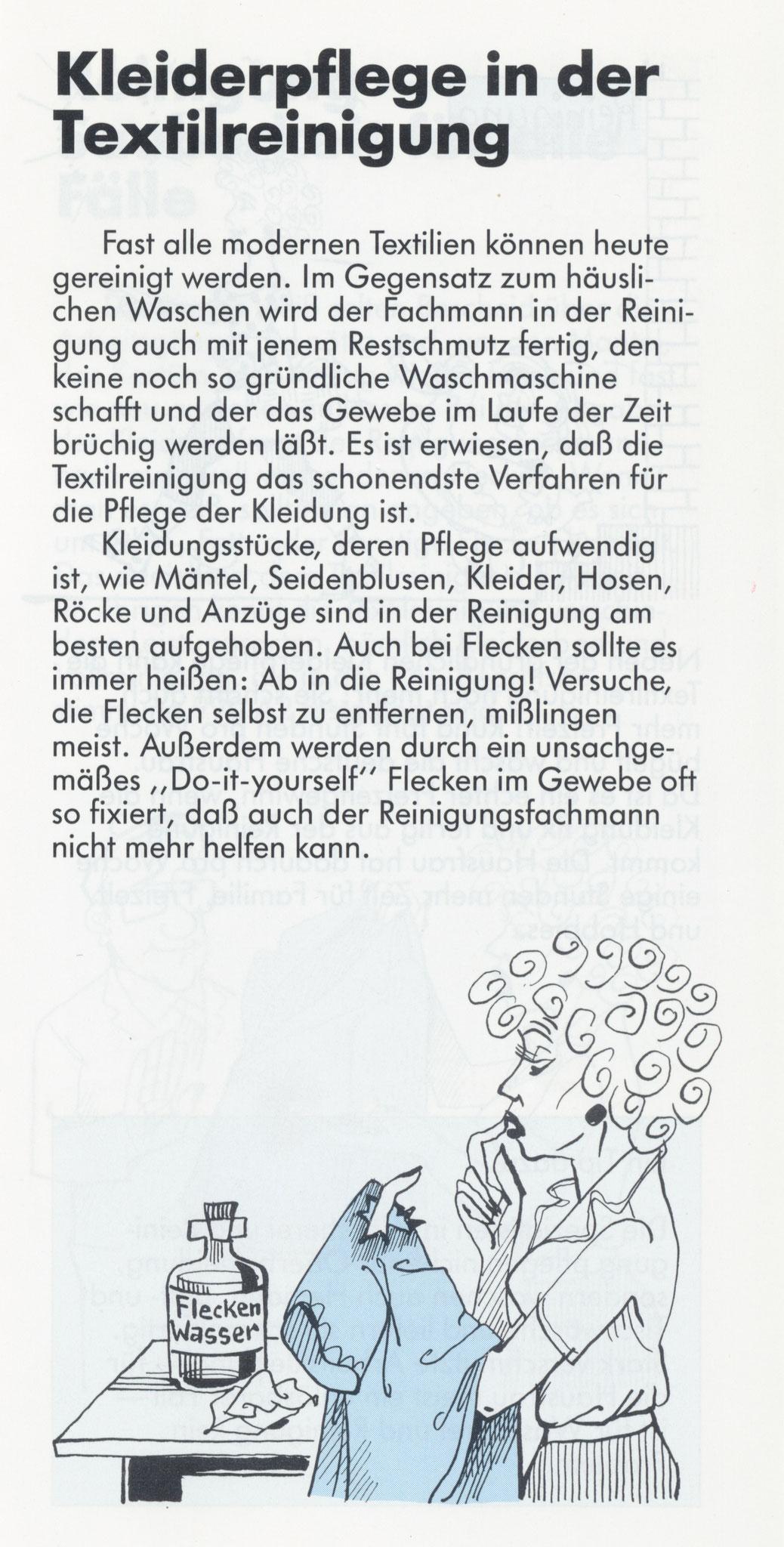 1980 Müden Arbeitskreis Textilreinigung:  Seite 6, Kleiderpflege