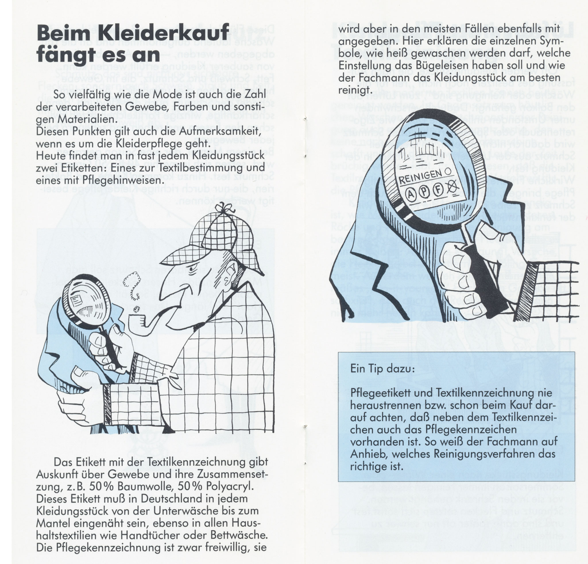 1980 Müden Arbeitskreis Textilreinigung:  Seite 4, Kleiderkauf