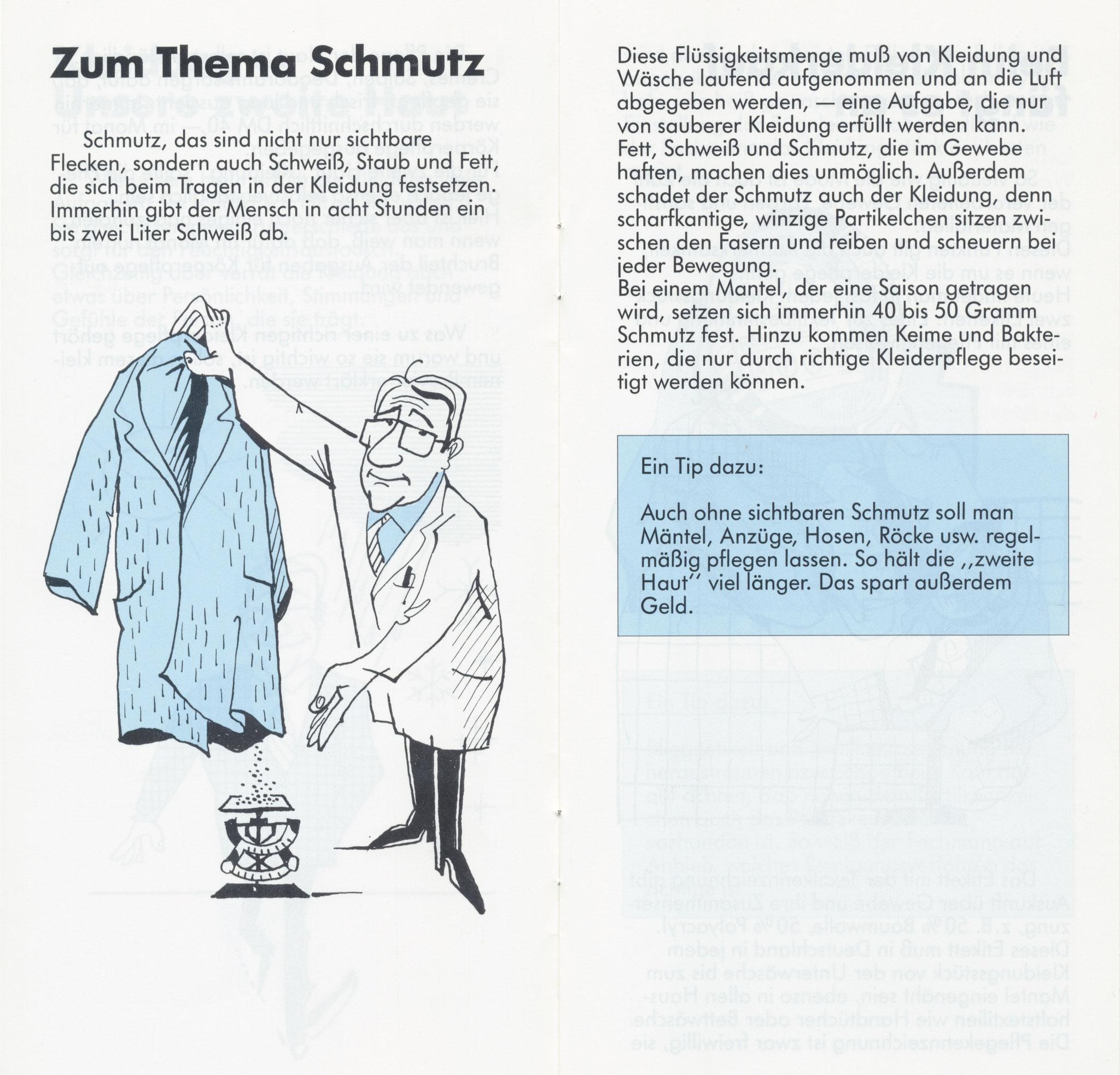 1980 Müden Arbeitskreis Textilreinigung:  Seite 3, Schmutz
