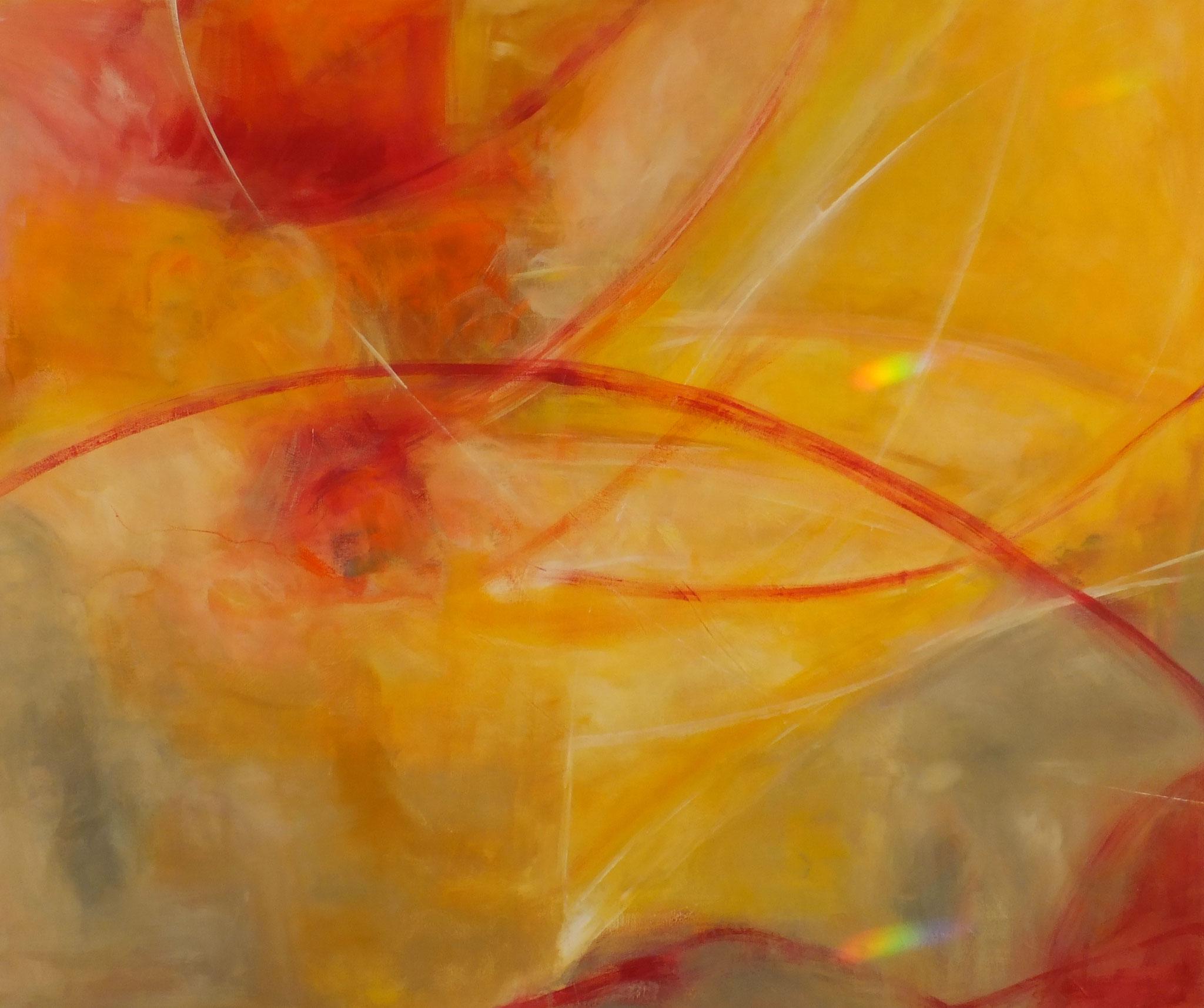 Sonnengesang 80x100cm Acrylfarbe mit Pigmenten