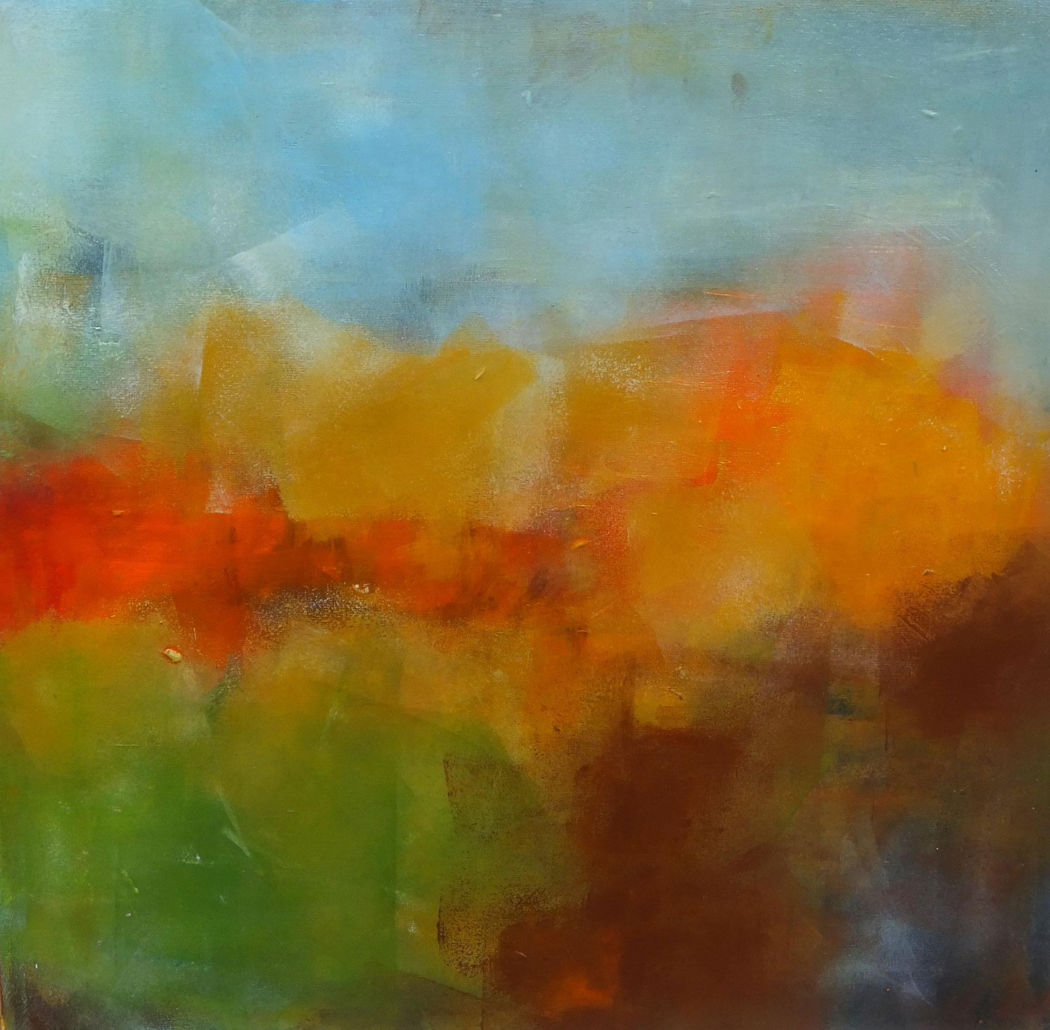Bildtitel: Herbstfarben - Herbst 40 x 40 cm Acryl auf Leinwand  (Vier Jahreszeiten)