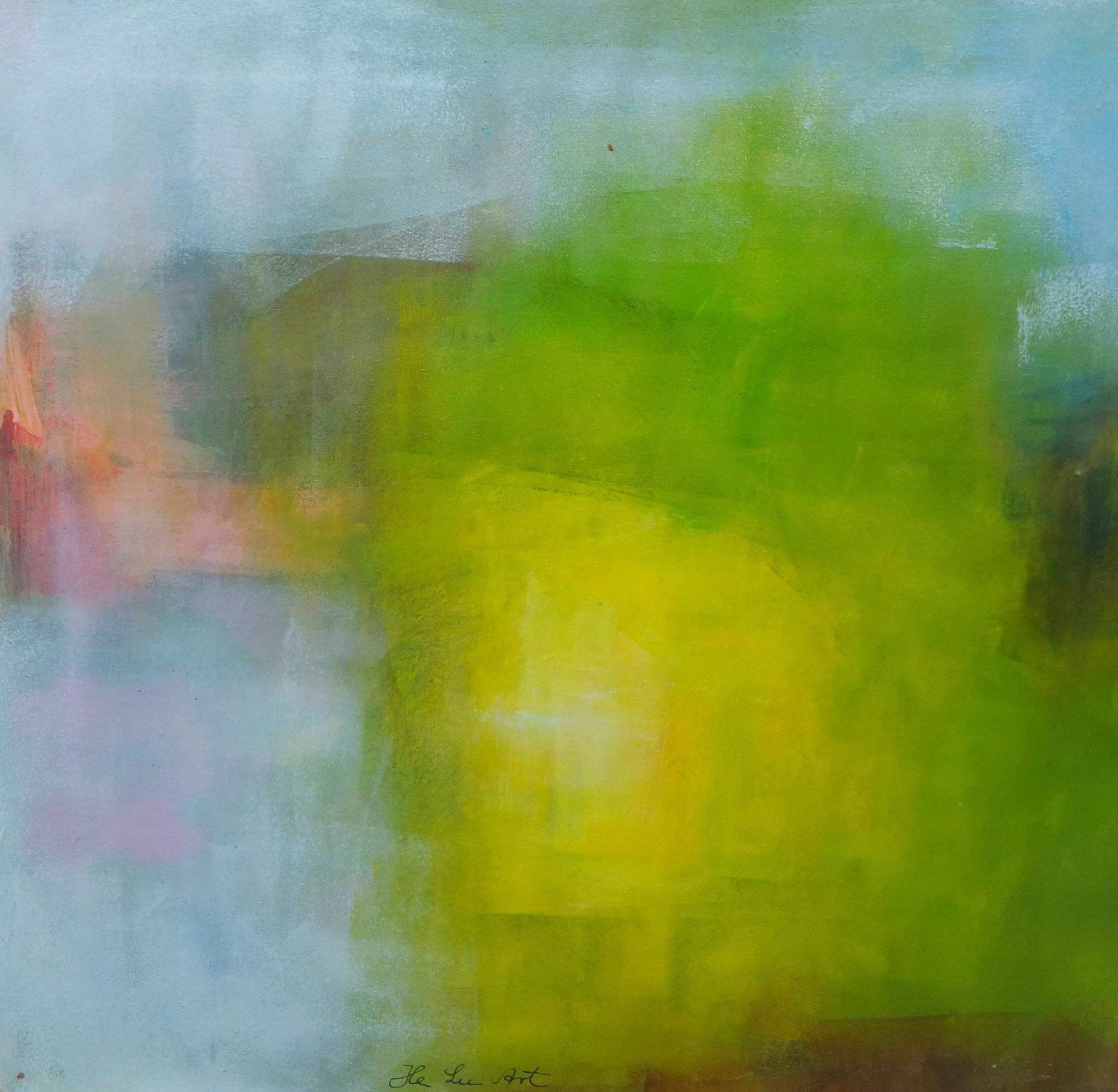 Bildtitel: Frühlingsgefühle - Frühling 40 x 40 cm  Acryl auf Leinwand (Vier Jahreszeiten insges. 4 Bilder)