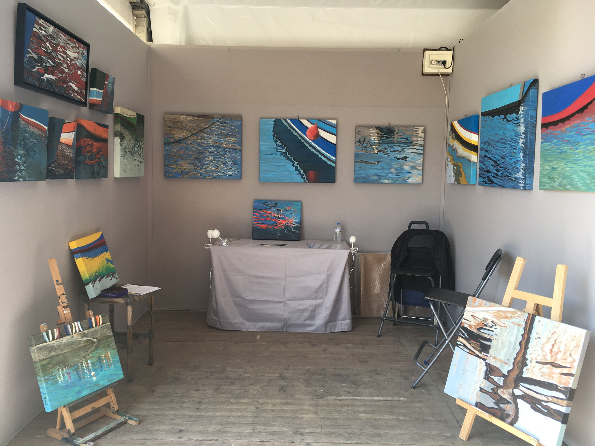 Stand au Salon d'Art Contemporain de Chatou 2019 (5/6)