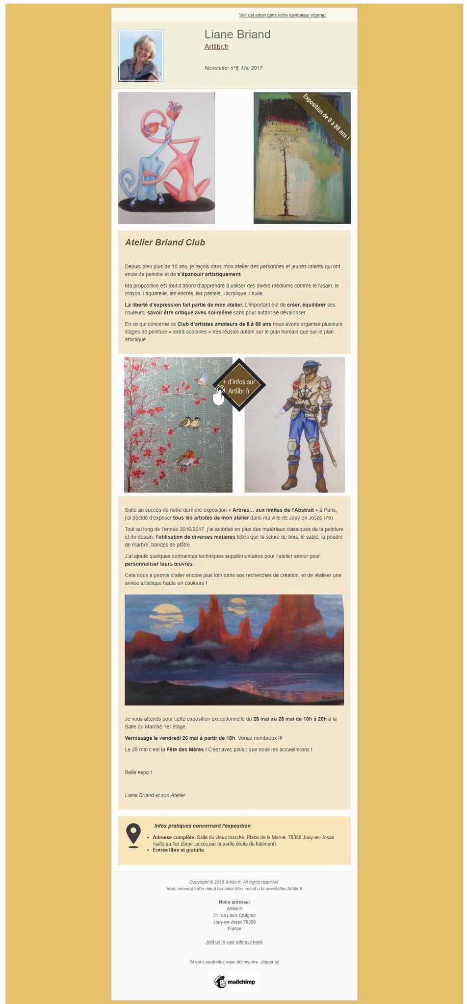 Newsletter N°6 Artlibr.Fr: Exposition De L'Atelier Briand Club À Jouy-En-Josas