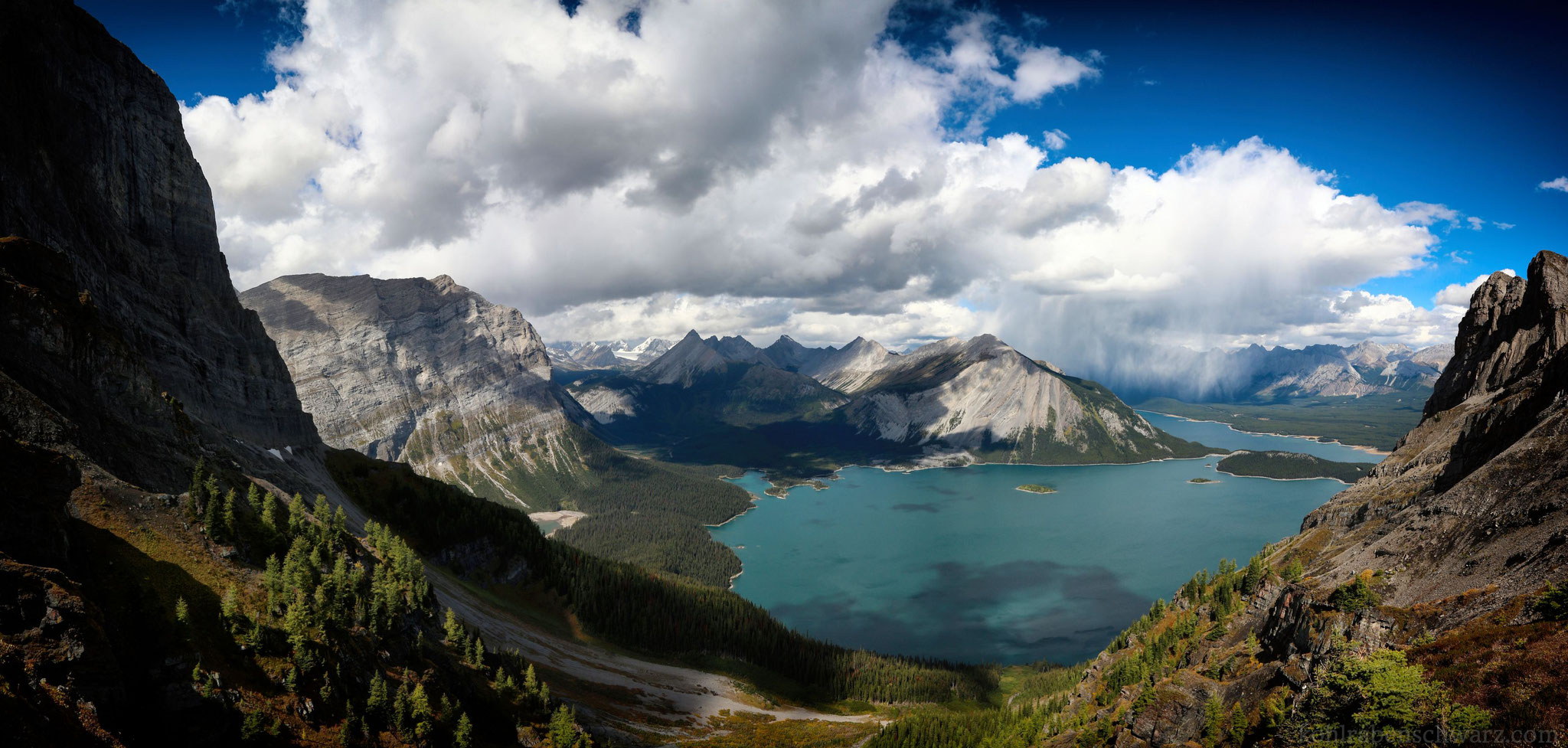 Ausblick überhalb des Rawson Lake
