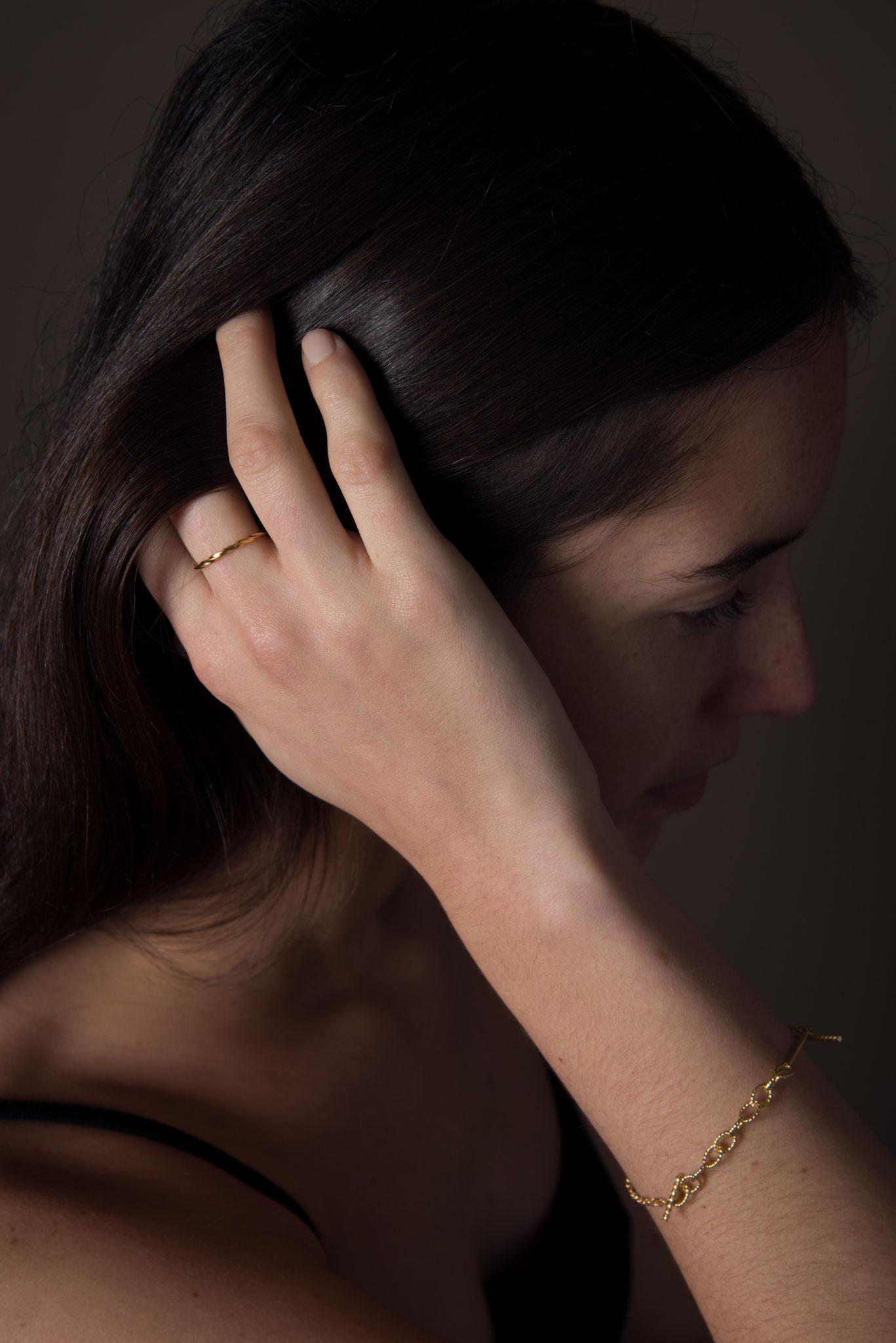 Bracelet Torsade – Bagues – Silver/Silver Gold Plated