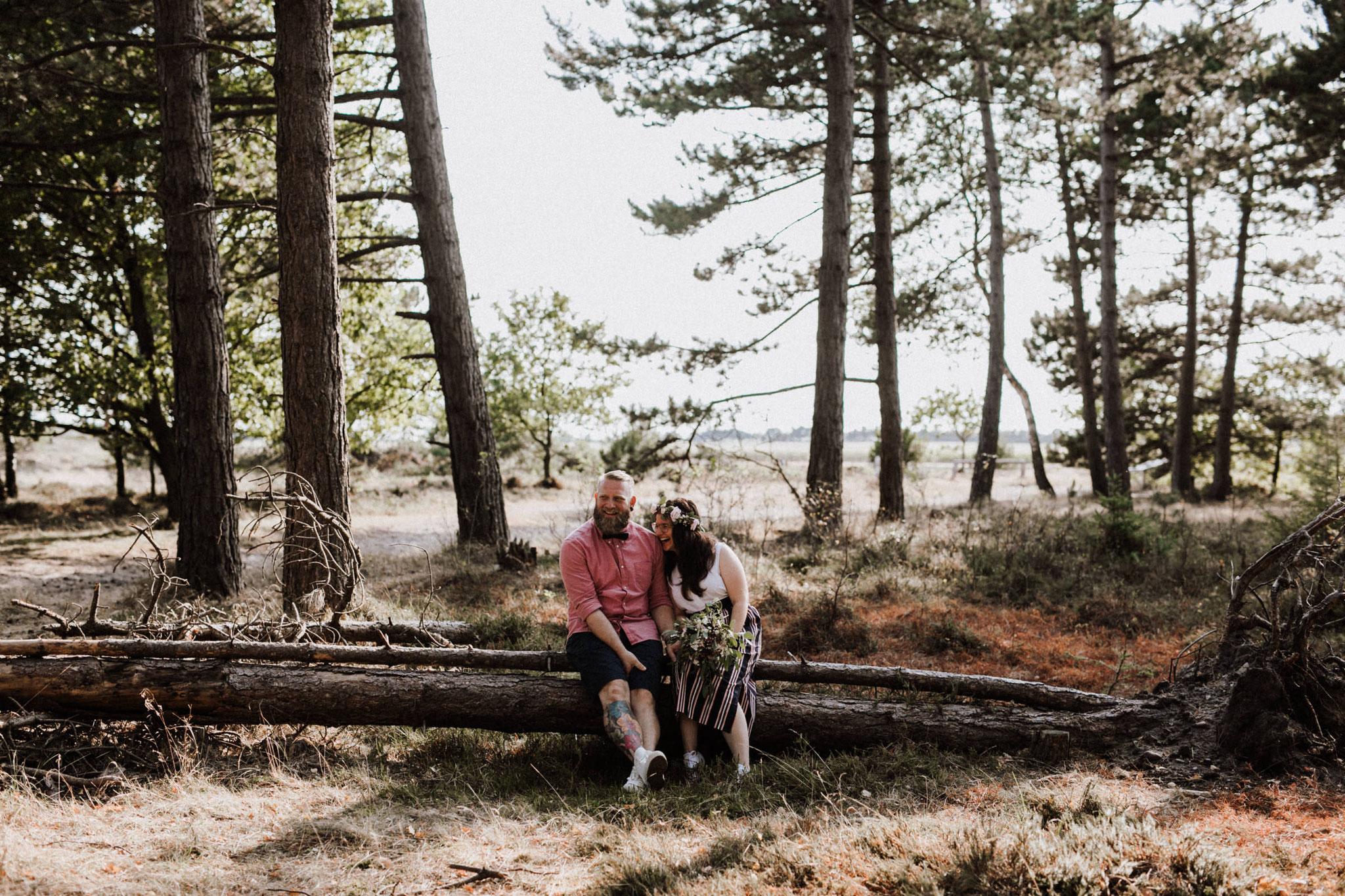 die schönsten Hochzeitsbilder in der Küstenheide von Cuxhaven