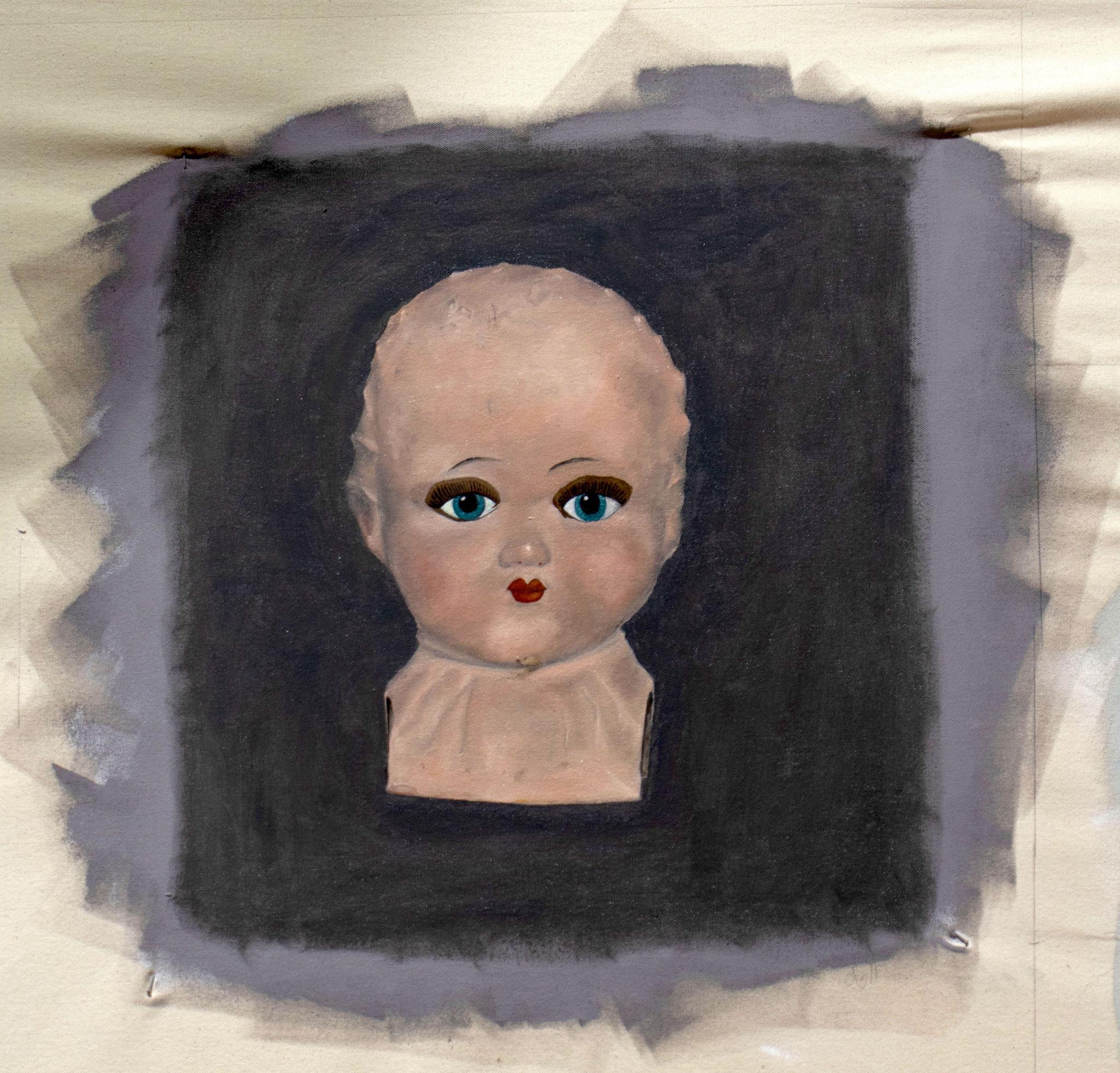 India - doll's head
