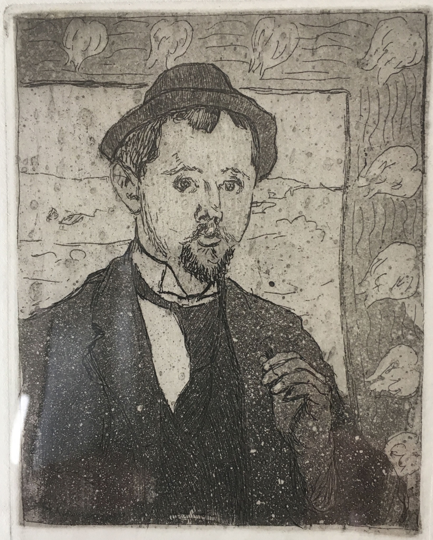 Cuno Amiet, Picture of Oscar Kurt, etching, circa 1896