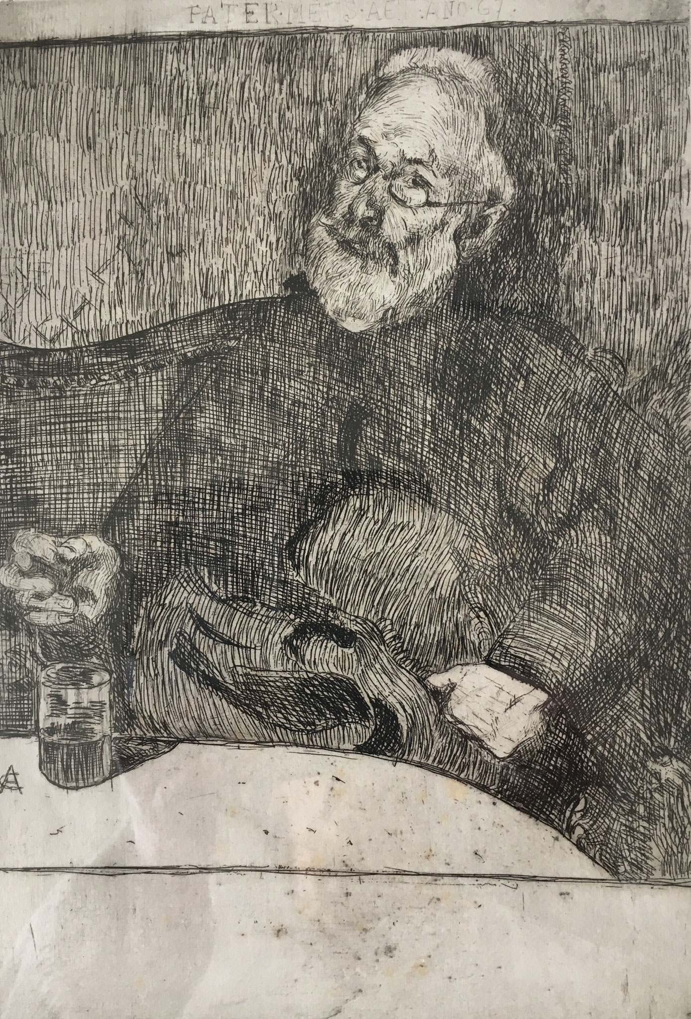 Cuno Amiet, Father Ignaz Amiet, etching, 1894