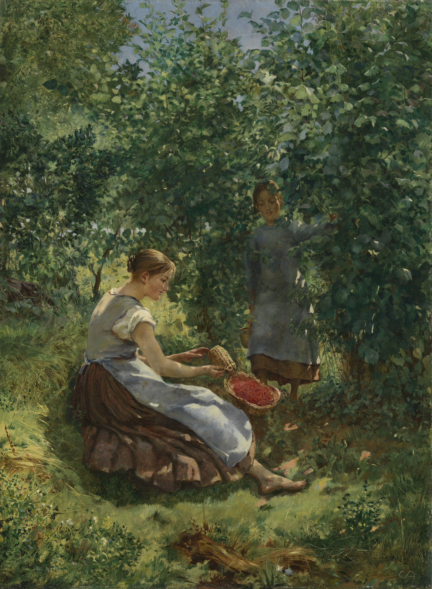 Cuno Amiet, Erdbeermädchen, 1889, Stiftung für Kunst, Kultur und Geschichte, Winterthur