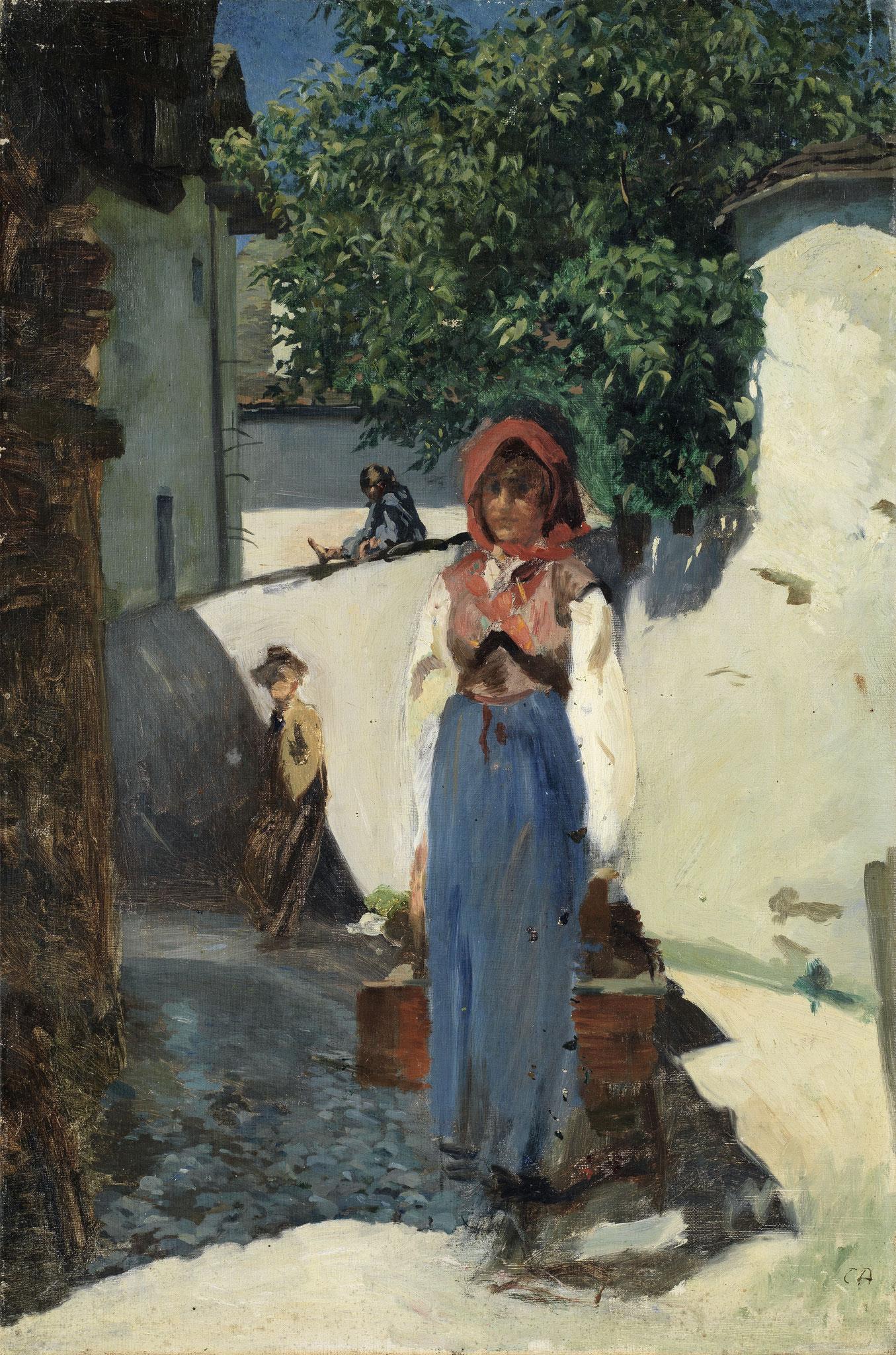 Cuno Amiet, Mädchen in Coltura, 1890