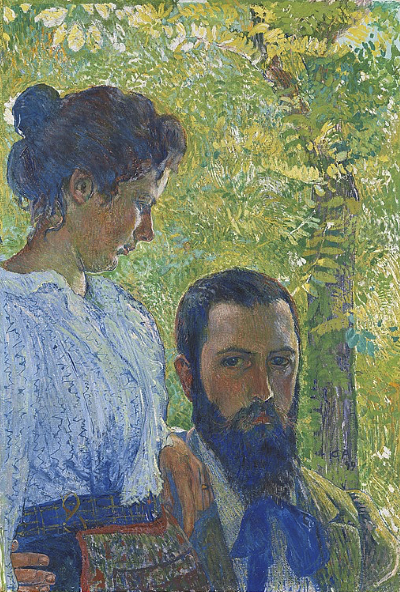 Cuno Amiet, Self-portrait with Wife, 1899 - exhibited in London, 1926