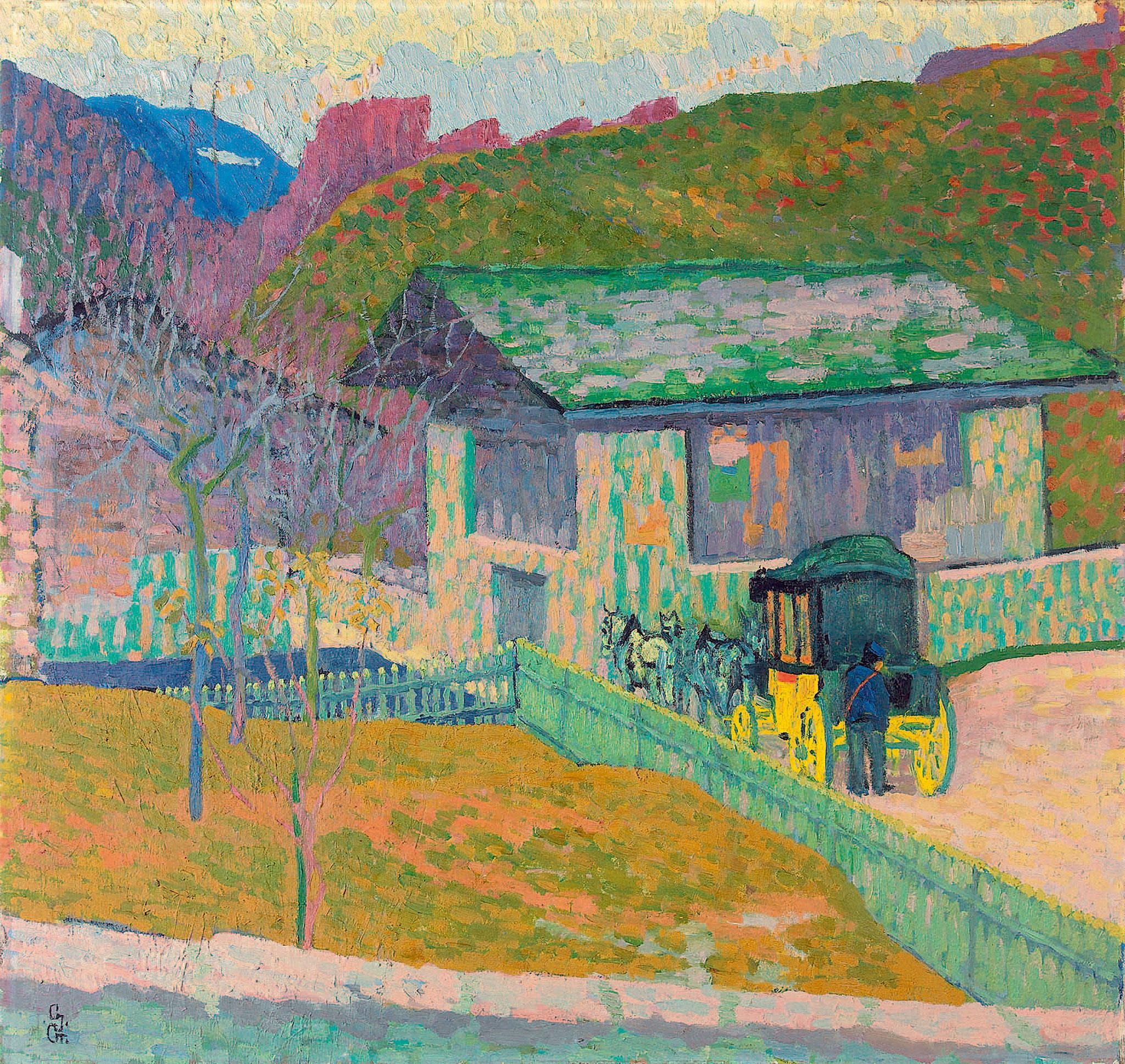 Giovanni Giacometti, Die Post,  1907
