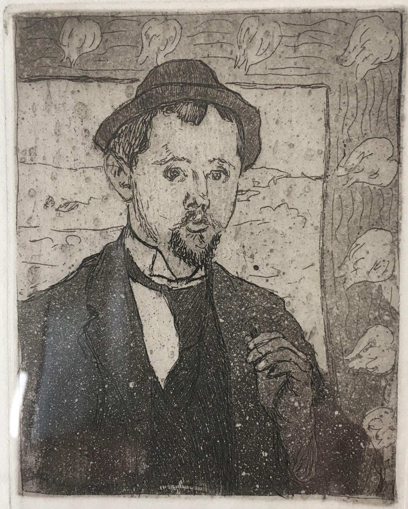 Cuno Amiet, Bildnis Oscar Kurt, Radierung, um 1896